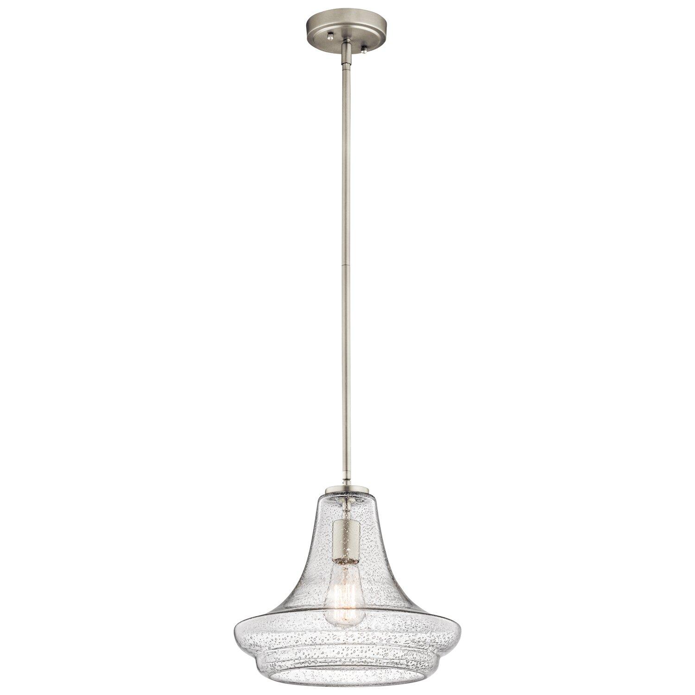 Kichler everly 1 light mini pendant reviews wayfair for Kichler kitchen pendant lighting