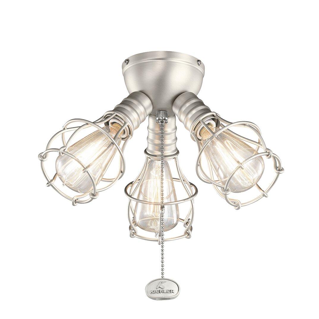 Kichler Industrial 3 Light Branched Ceiling Fan Light Kit