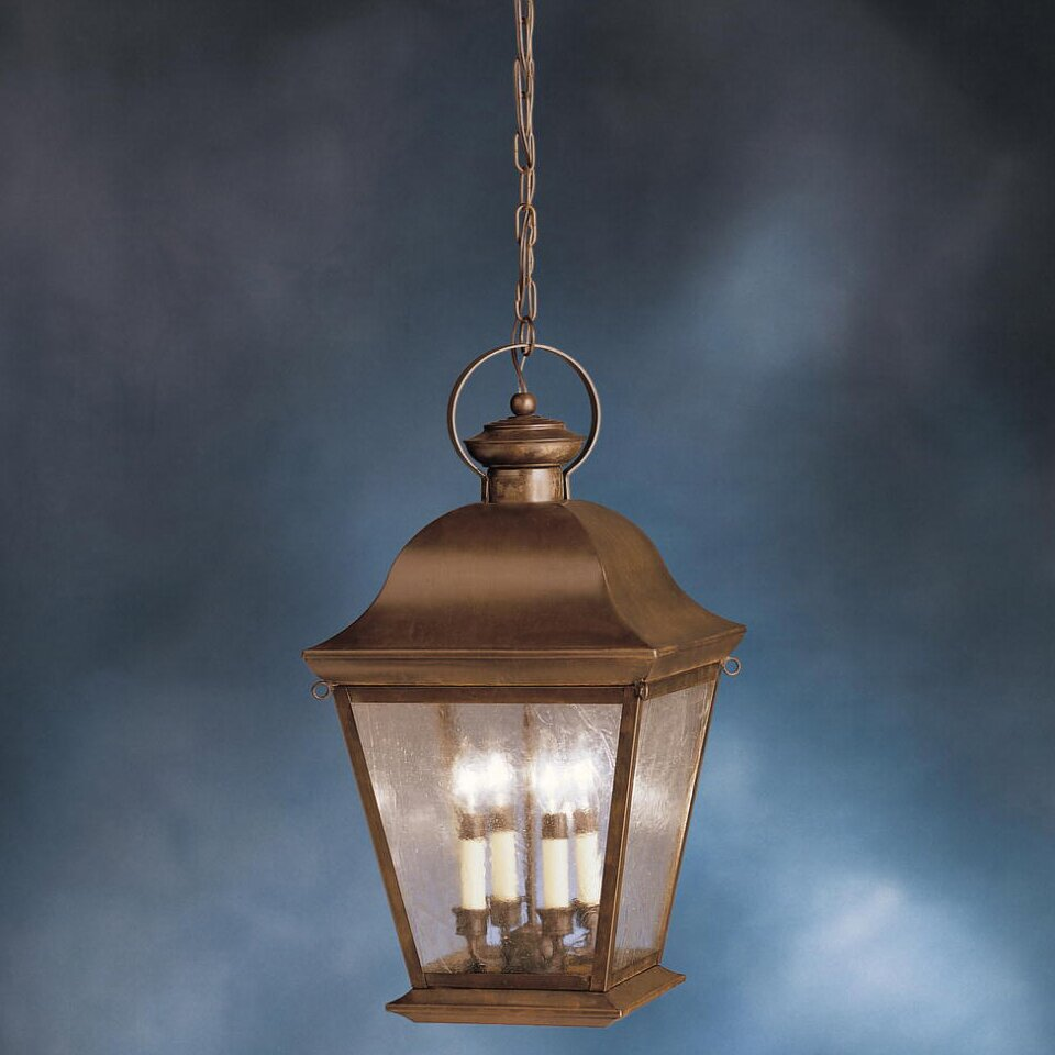 Wayfair Outdoor Hanging Lights: Kichler Mount Vernon 4 Light Outdoor Hanging Lantern