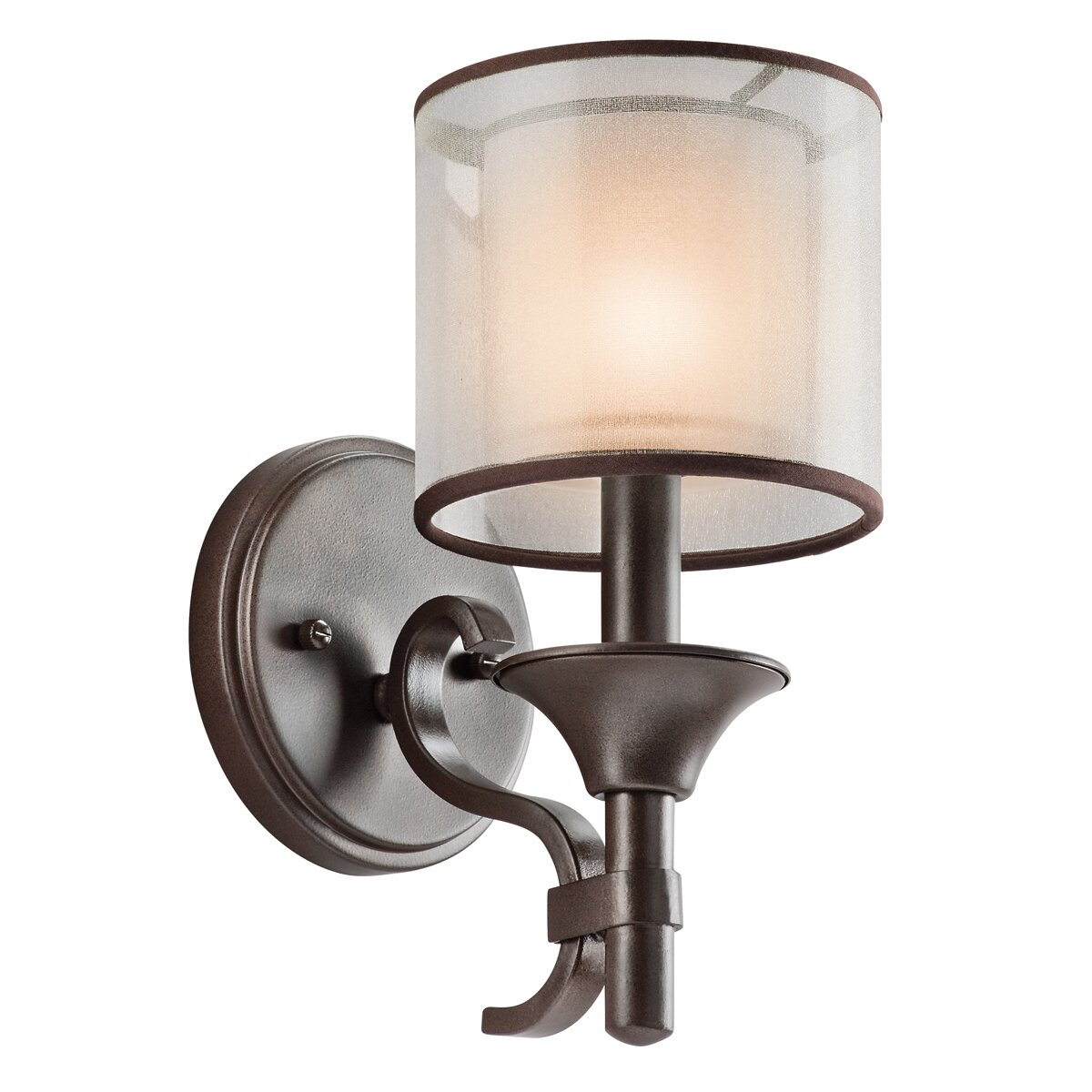 Kichler Bathroom Wall Sconces : Kichler Family Spaces 1 Light Wall Sconce & Reviews Wayfair