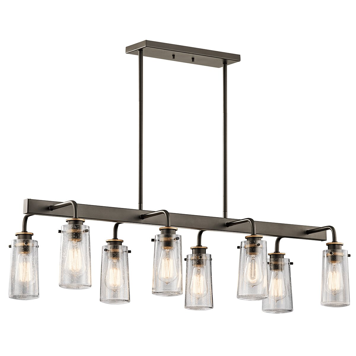 kichler braelyn 8 light linear chandelier reviews wayfair