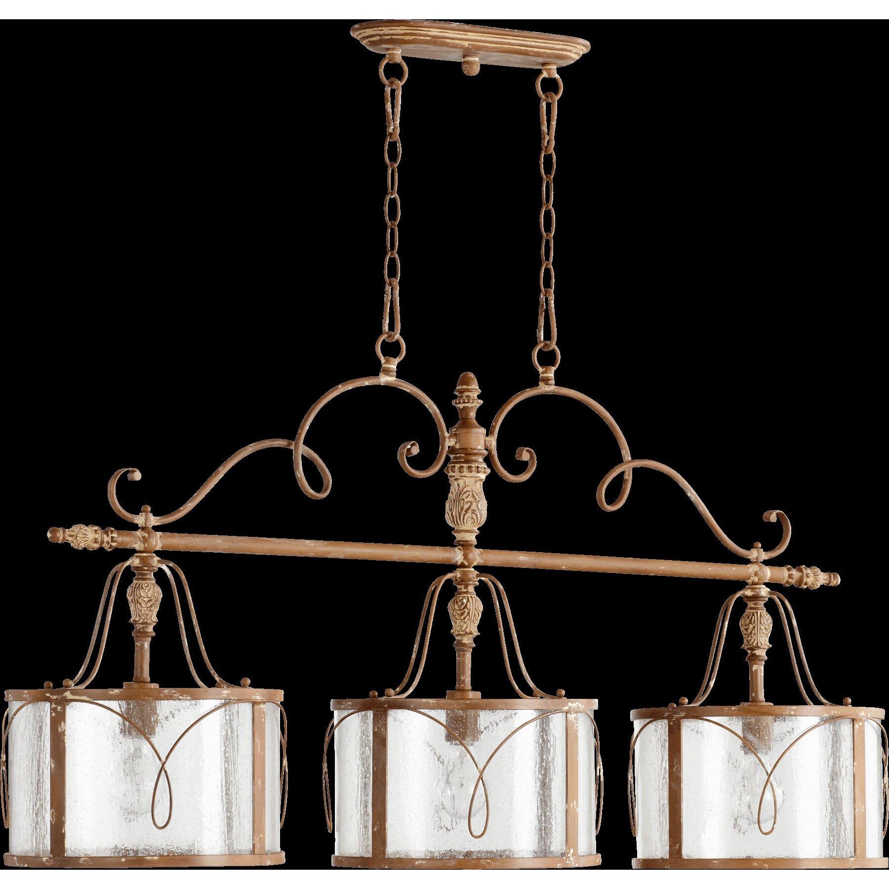 Quorum Salento 3 Light Kitchen Island Pendant Reviews Wayfair