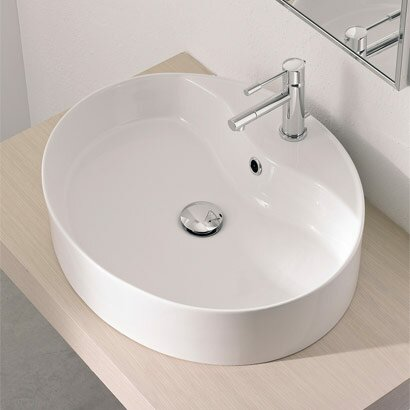 Scarabeo by nameeks wind above counter single hole bathroom sink reviews wayfair for Above counter bathroom sinks glass