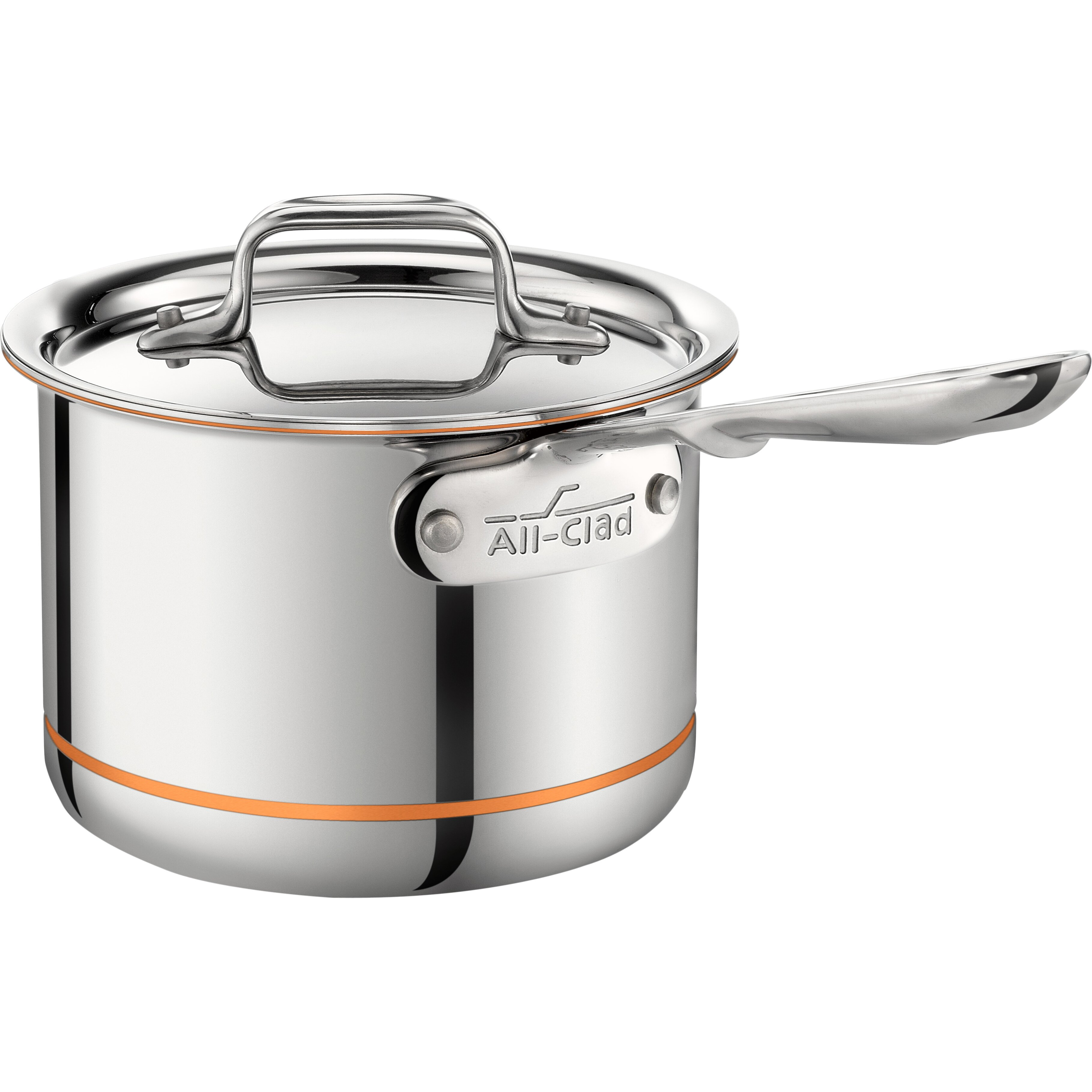 all clad copper core saucepan with lid reviews wayfair. Black Bedroom Furniture Sets. Home Design Ideas