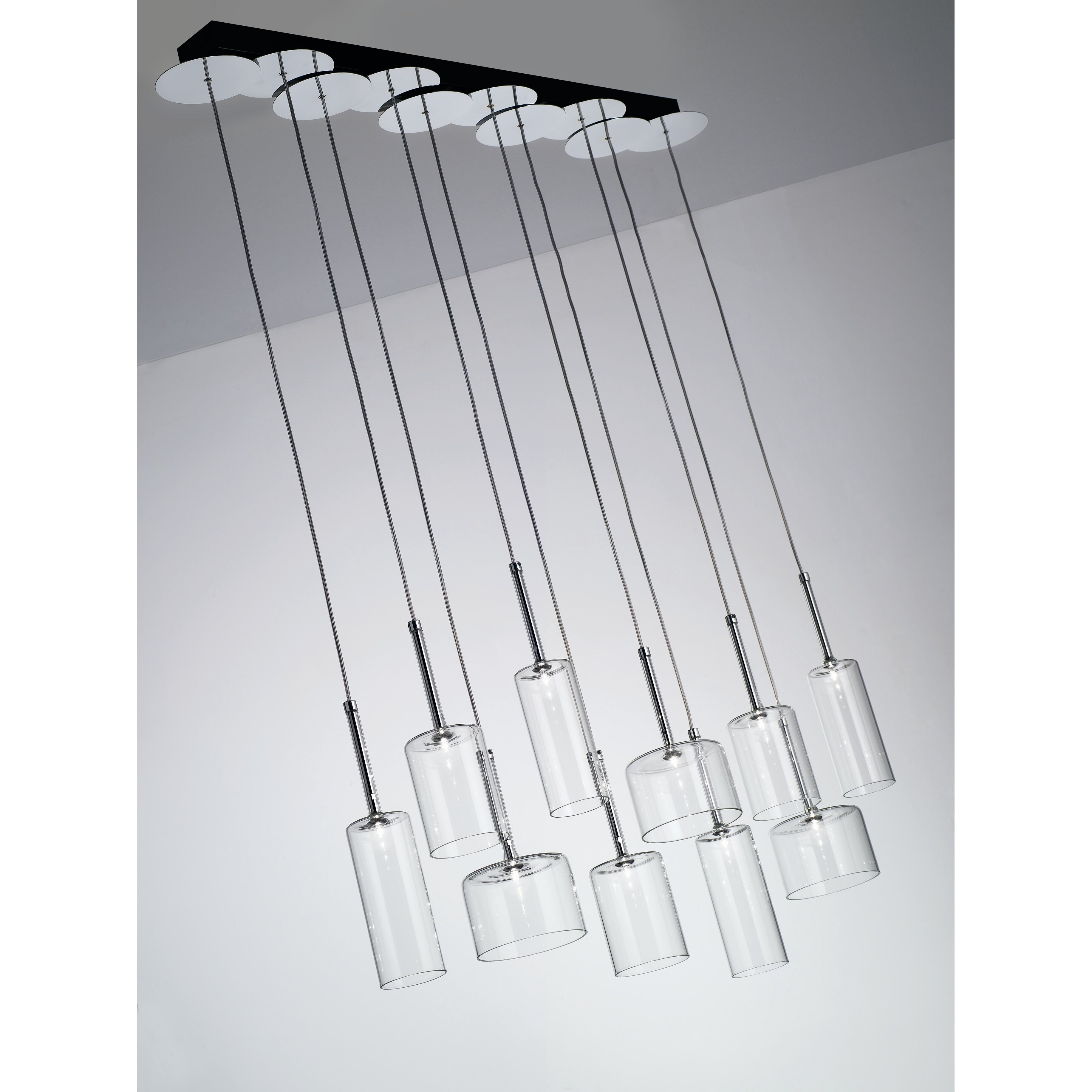 axo light spillray 10 light chandelier reviews wayfair. Black Bedroom Furniture Sets. Home Design Ideas