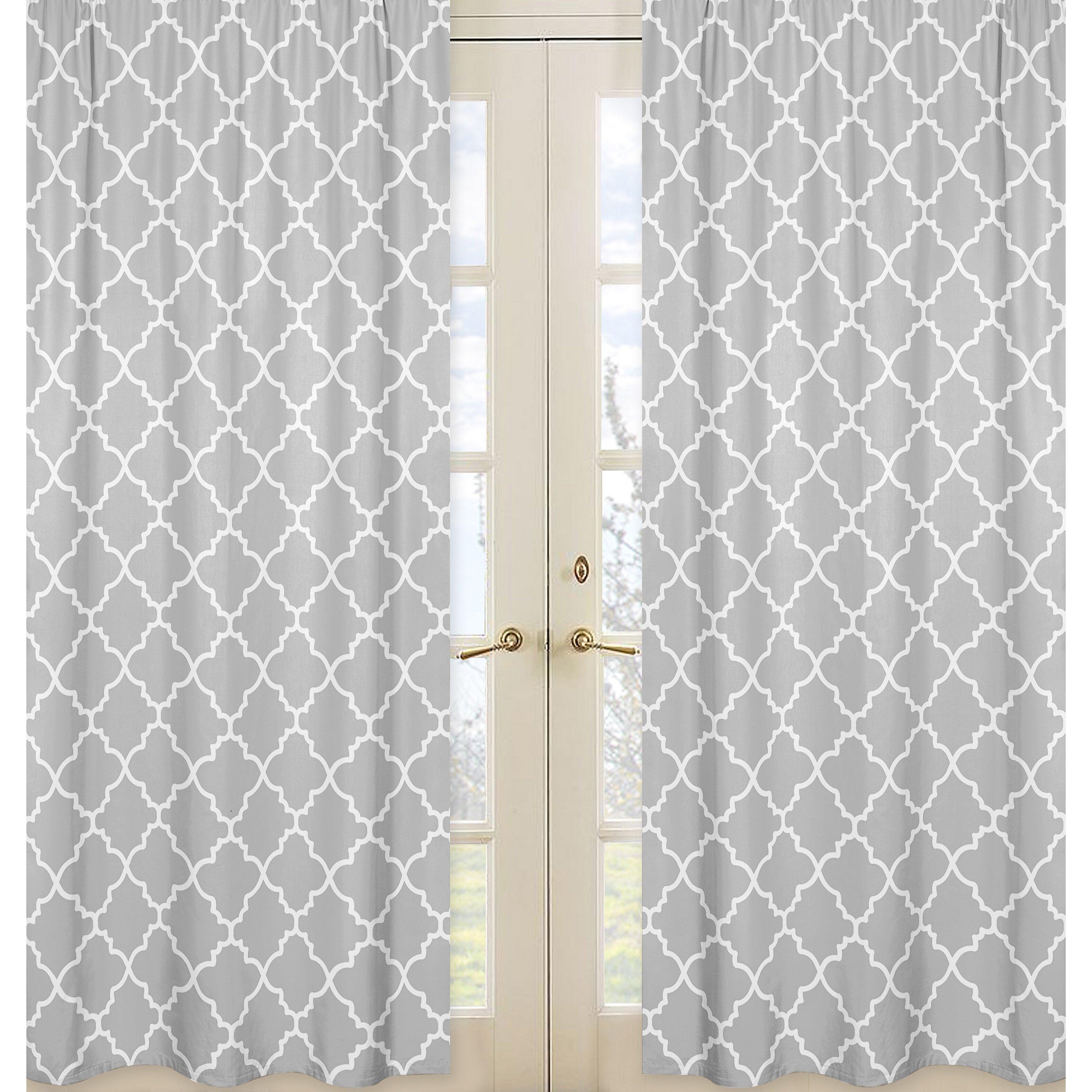 sweet jojo designs trellis curtain panel reviews wayfair