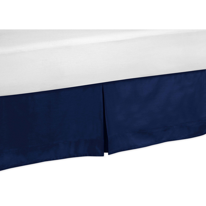 sweet jojo designs solid navy blue bed skirt reviews