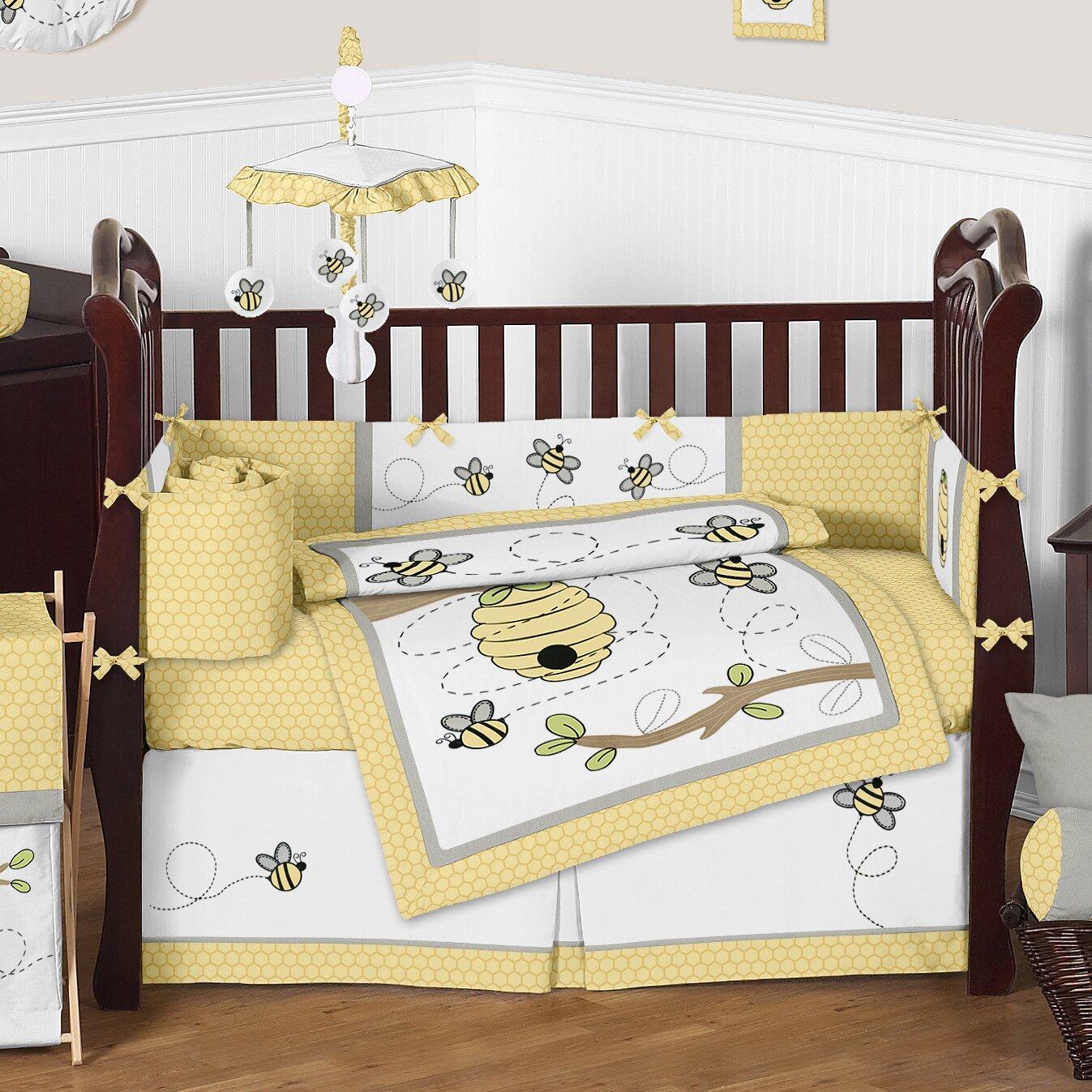 Sweet Jojo Designs Honey Bee 9 Piece Crib Bedding Set