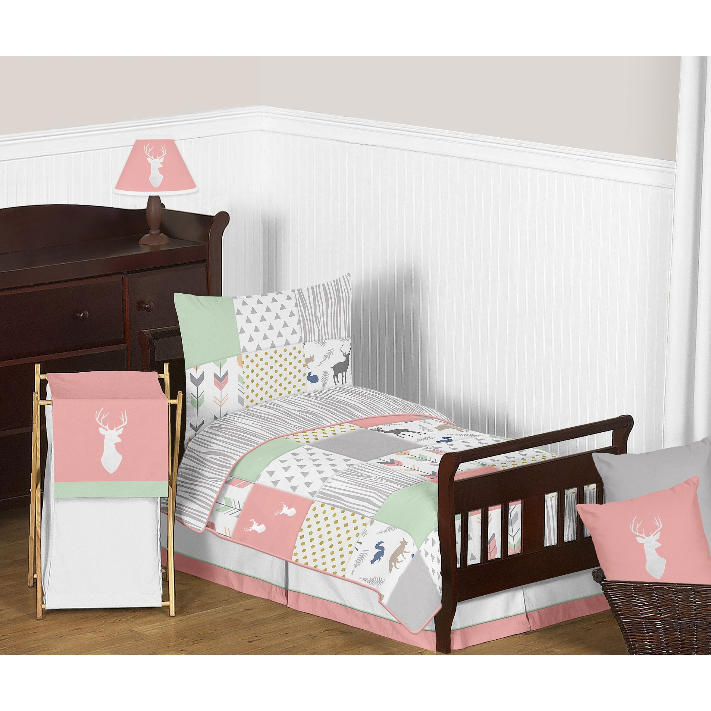 Sweet Jojo Designs Woodsy 5 Piece Toddler Bedding Set ...
