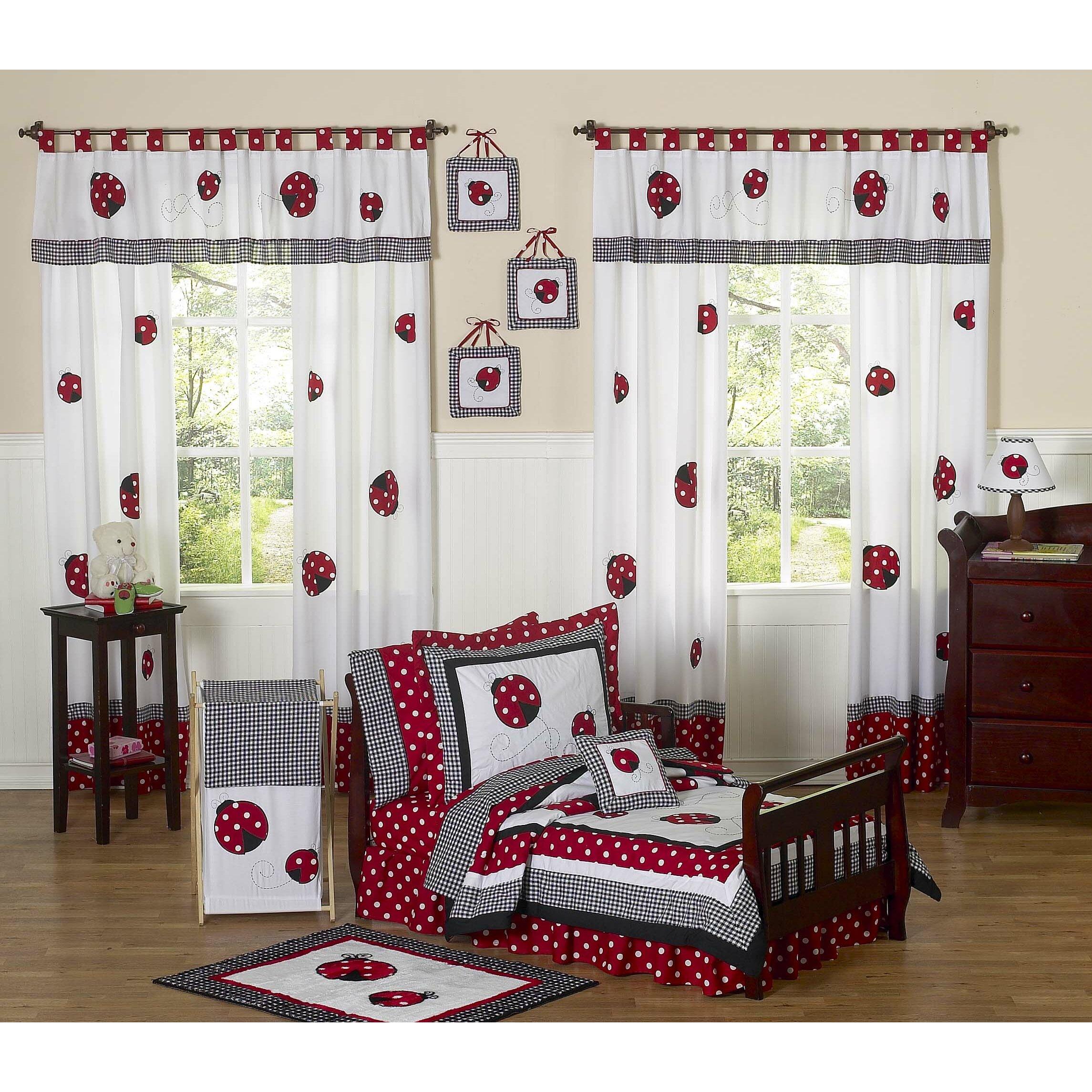"79 Handpicked Dining Room Ideas For Sweet Home: Sweet Jojo Designs Little Ladybug 84"" Curtain Valance"