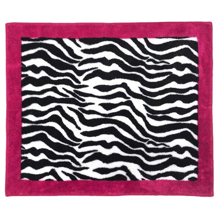 Sweet Jojo Designs Zebra Floor Pink Area Rug & Reviews