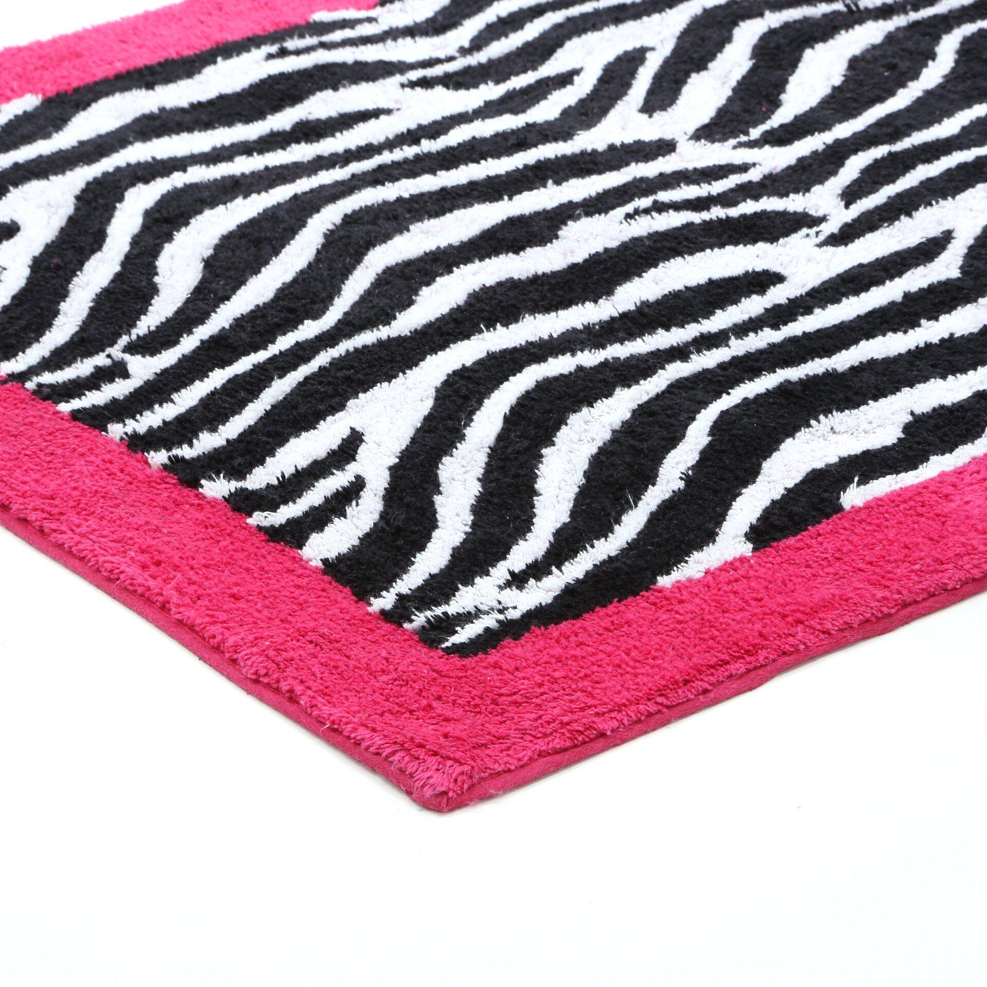 Zebra Rug Wayfair: Sweet Jojo Designs Zebra Floor Pink Area Rug & Reviews