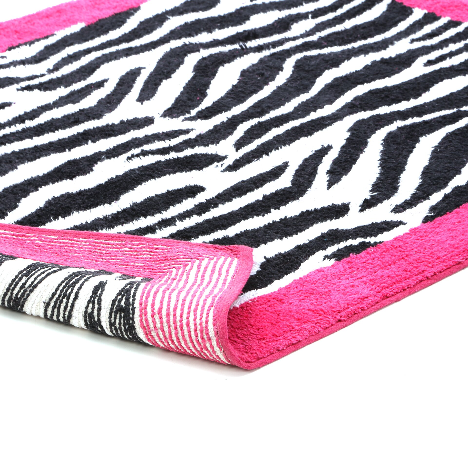 Sweet Jojo Designs Zebra Floor Pink Area Rug Reviews