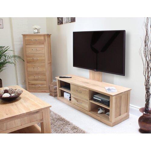 baumhaus mobel oak tv stand for tvs up to 60quot baumhaus mobel oak 2