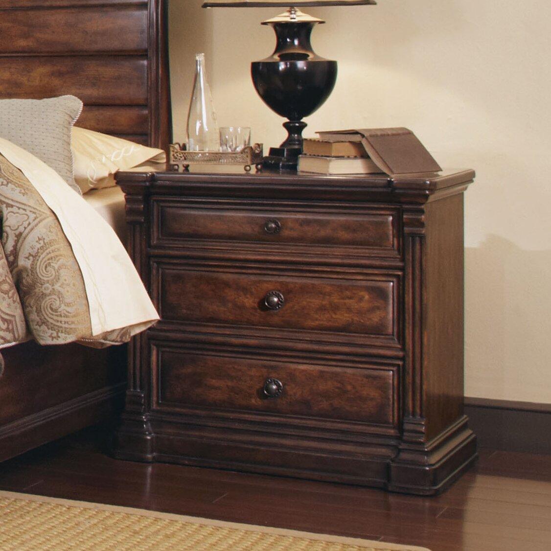 A.R.T. Whiskey Oak Sleigh Customizable Bedroom Set