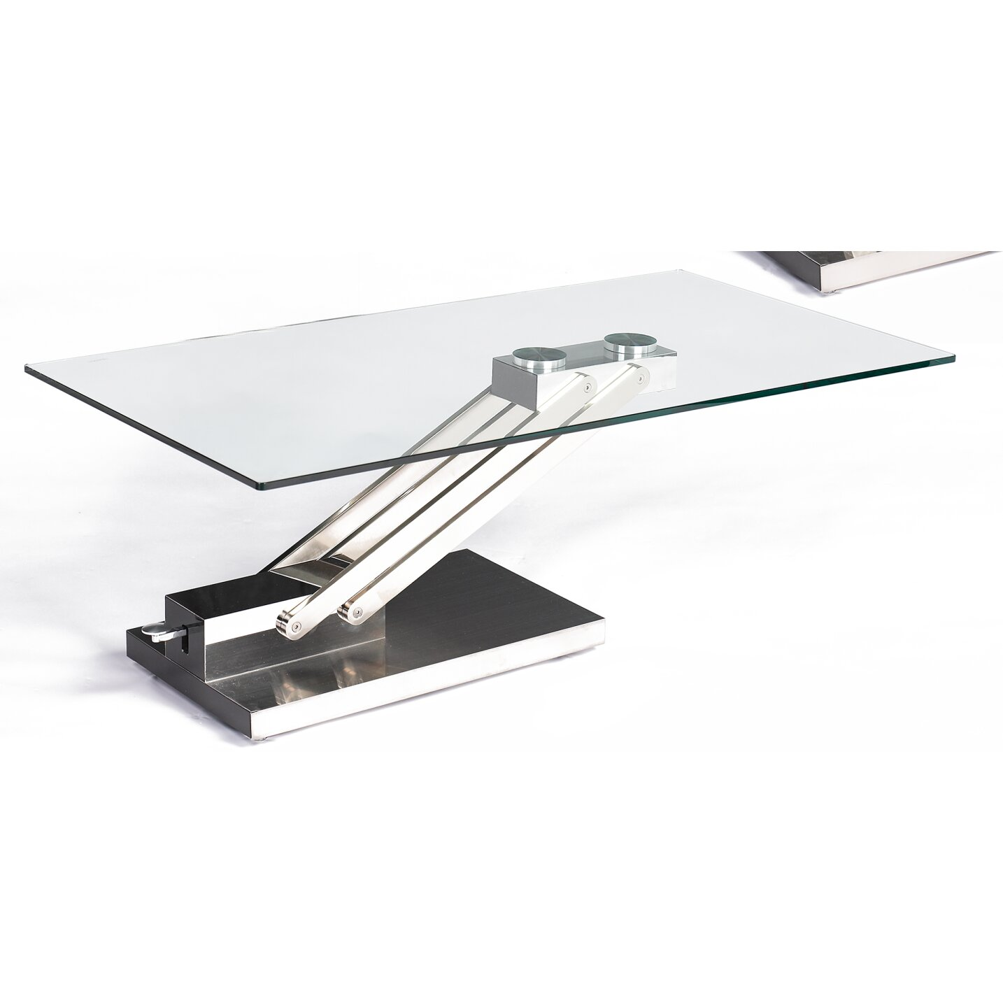Chintaly Ryan Coffee Table With Adjustable Steel Base