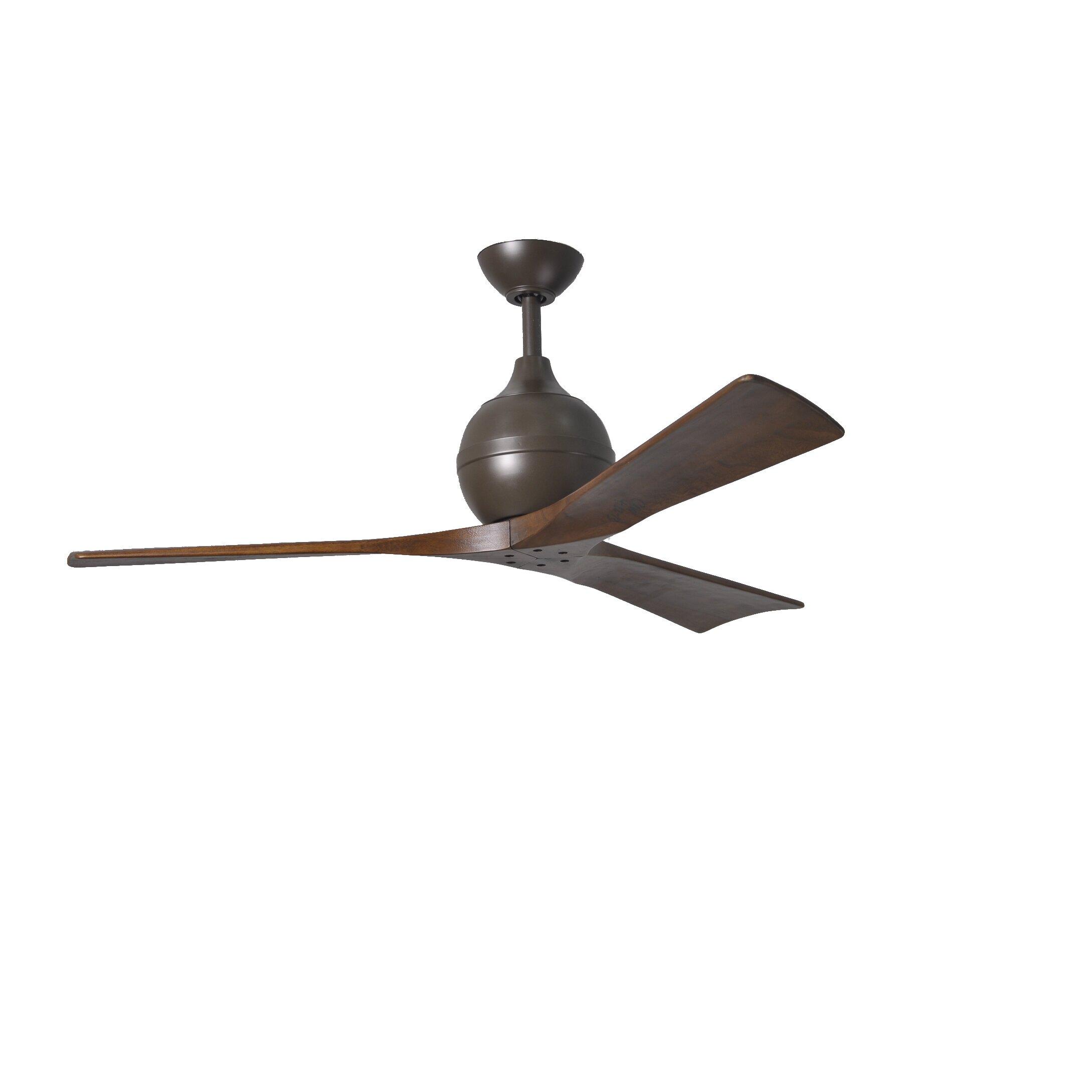 """Matthews Fan Company 52"""" Irene 3 Blade Ceiling Fan With"""
