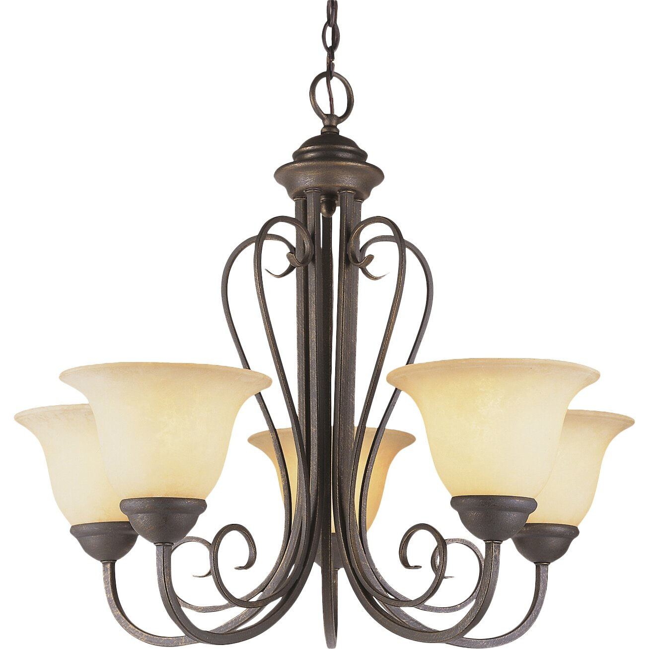 "TransGlobe Lighting New Century 21.25"" Chandelier In"