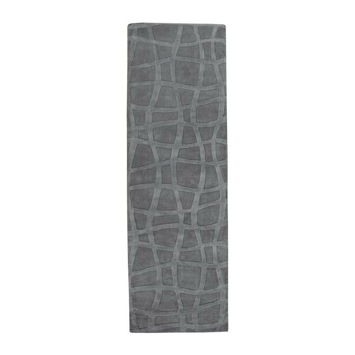 Checked Area Rugs: Candice Olson Sculpture Gray Checked Area Rug & Reviews