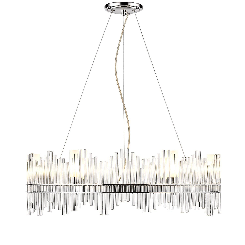Golden lighting luciano 6 light crystal chandelier for 6 light crystal chandelier