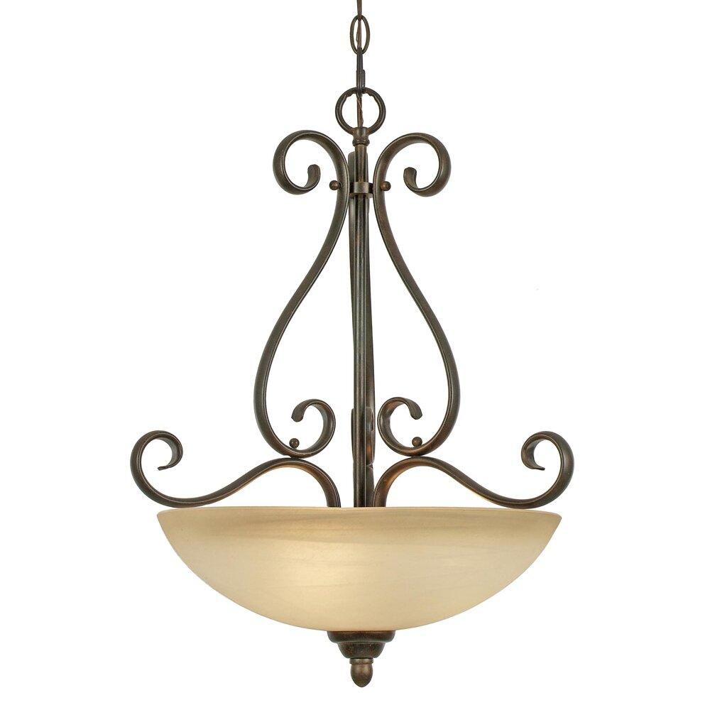 golden lighting riverton 3 light bowl inverted pendant