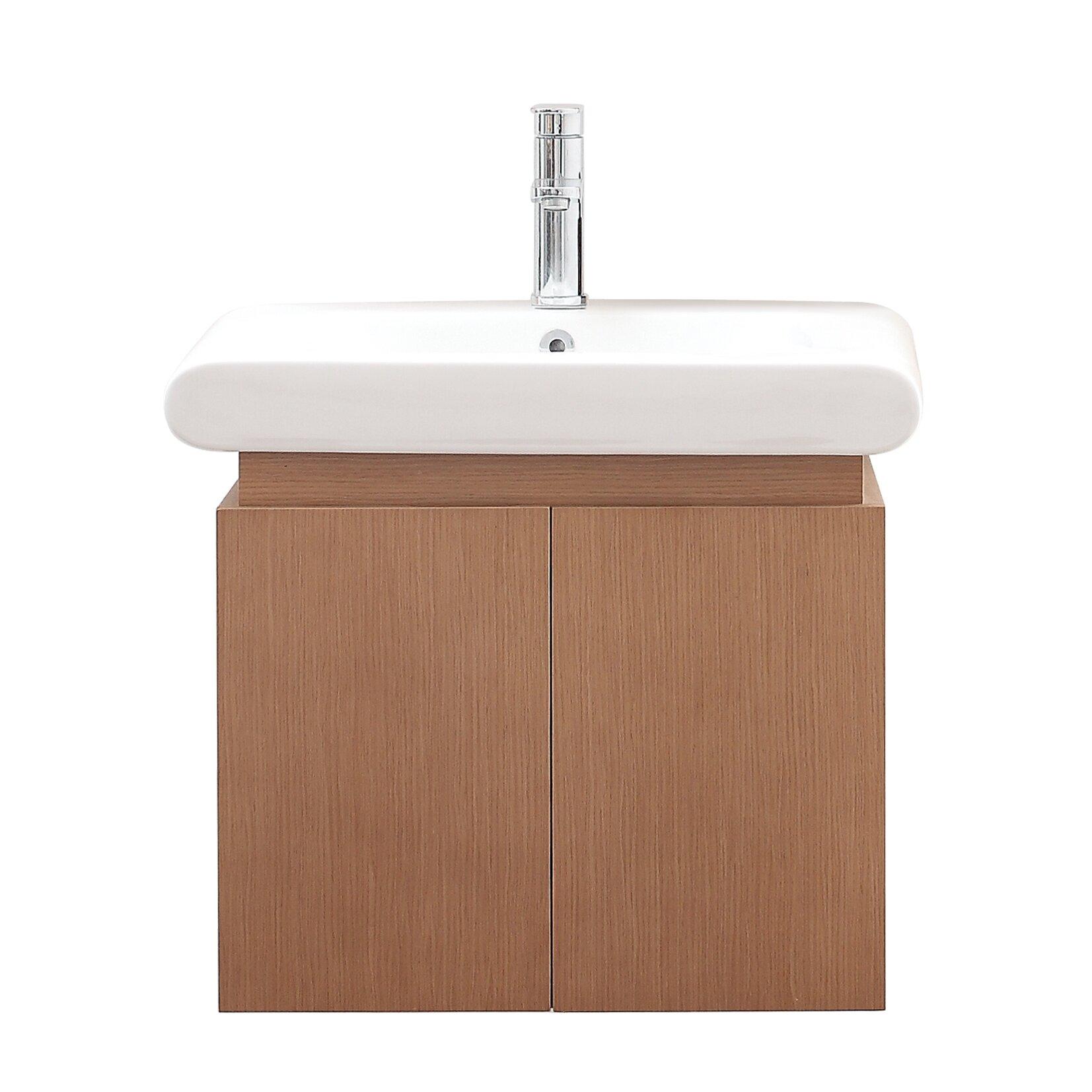 """Avanity Elle 24"""" Single Wall Mounted Bathroom Vanity Set"""