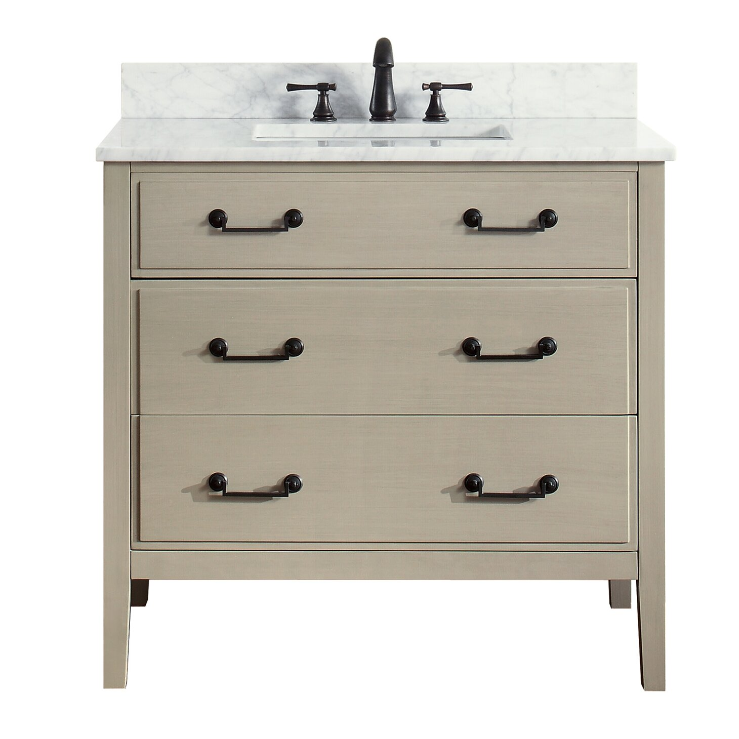 Avanity delano 37 single modern bathroom vanity set reviews wayfair - Kona modern bathroom vanity set ...