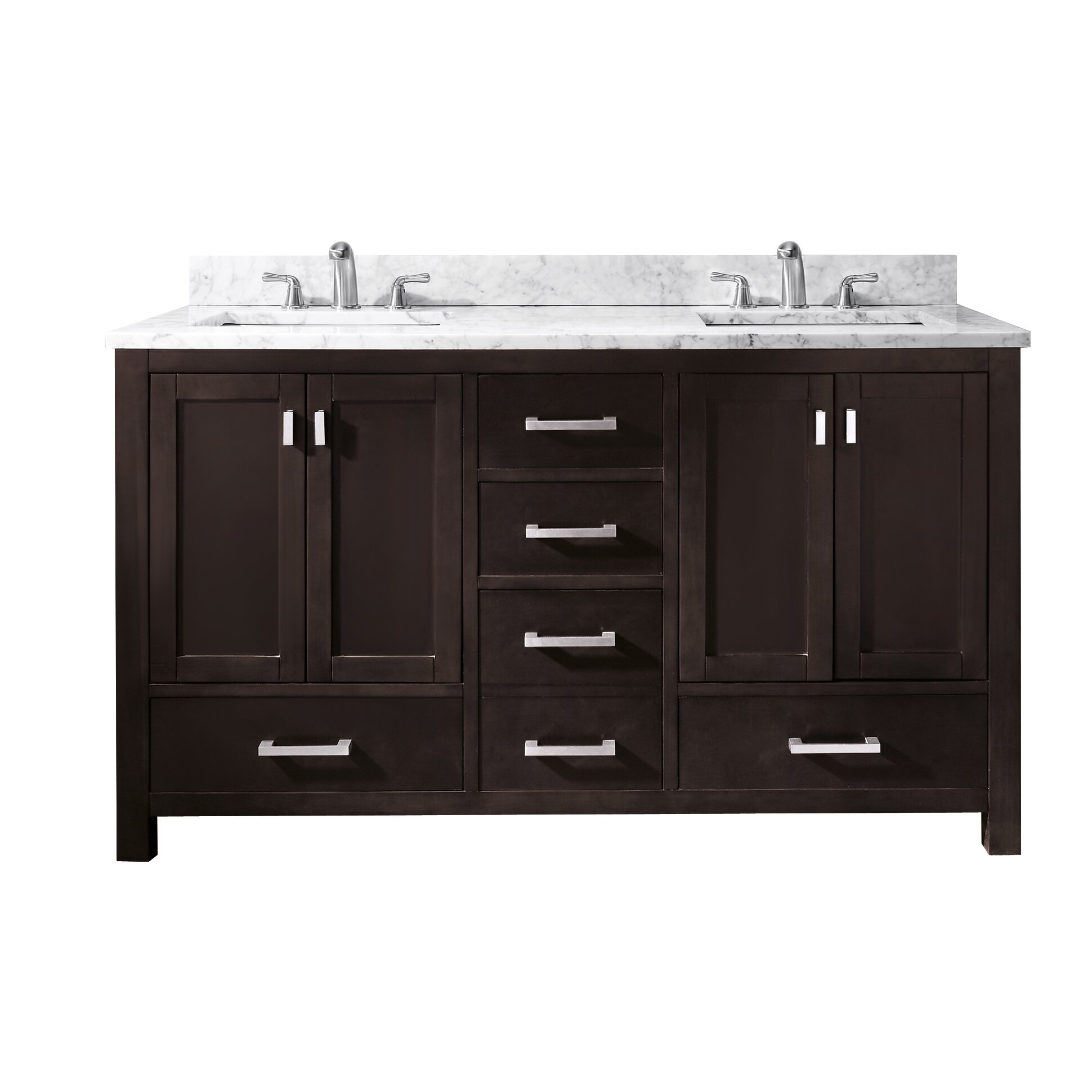 Avanity modero 60 double vanity base reviews wayfair - Menards bathroom vanities 48 inches ...