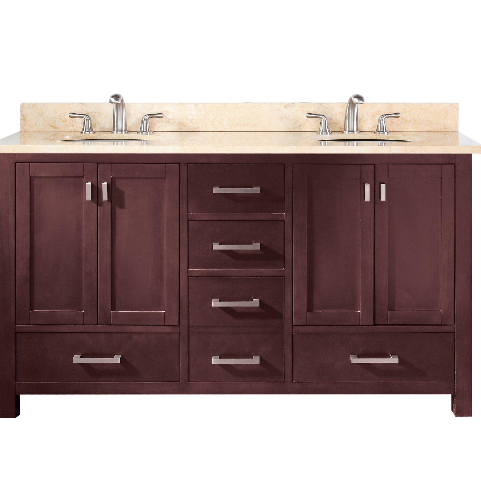 "60 Modero Double Vessel Sink Vanity: Avanity Modero 60"" Double Vanity"