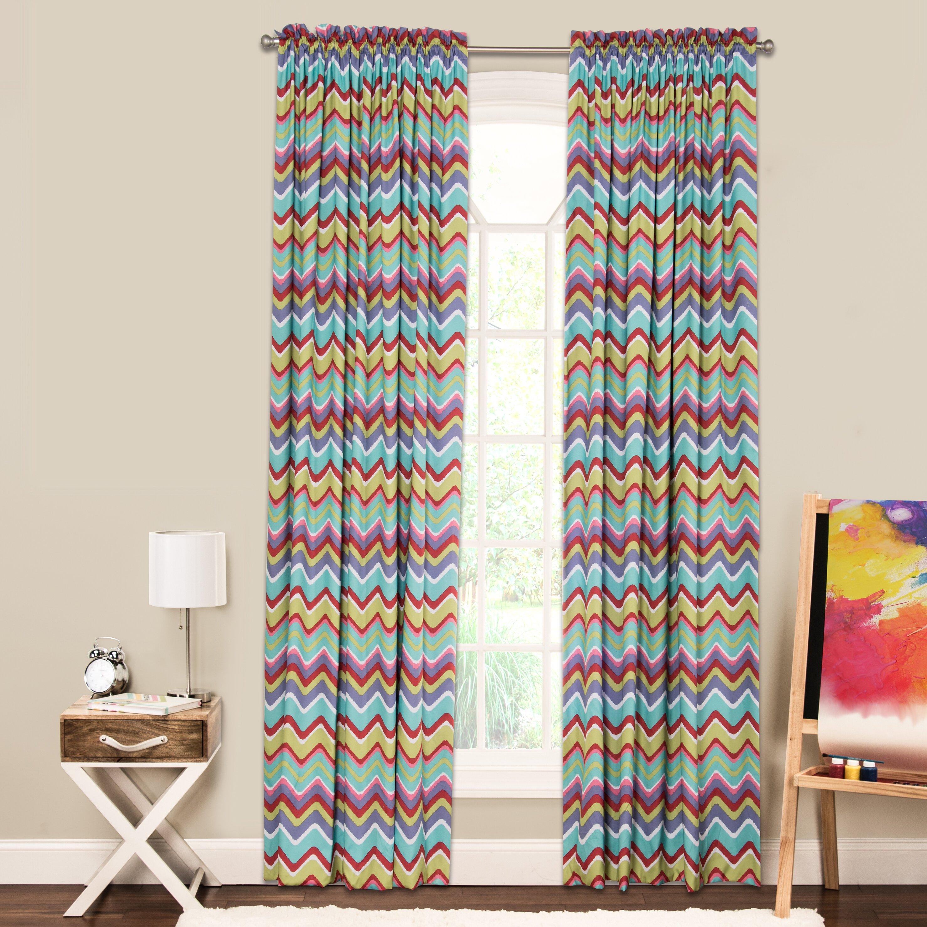 Crayola Crayola Mixed Palette Single Curtain Panel Wayfair