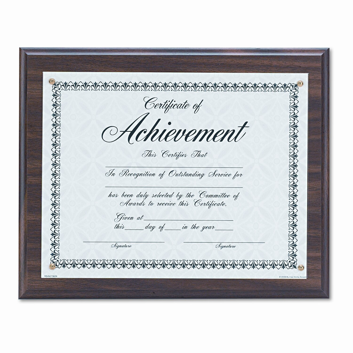 dax manufacturing inc award plaque wood acrylic frame fits up to 8 1 2 x 11 walnut reviews. Black Bedroom Furniture Sets. Home Design Ideas