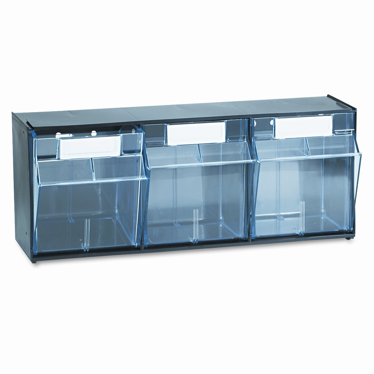 Pvc Storage System : Deflecto tilt bin plastic storage system with bins