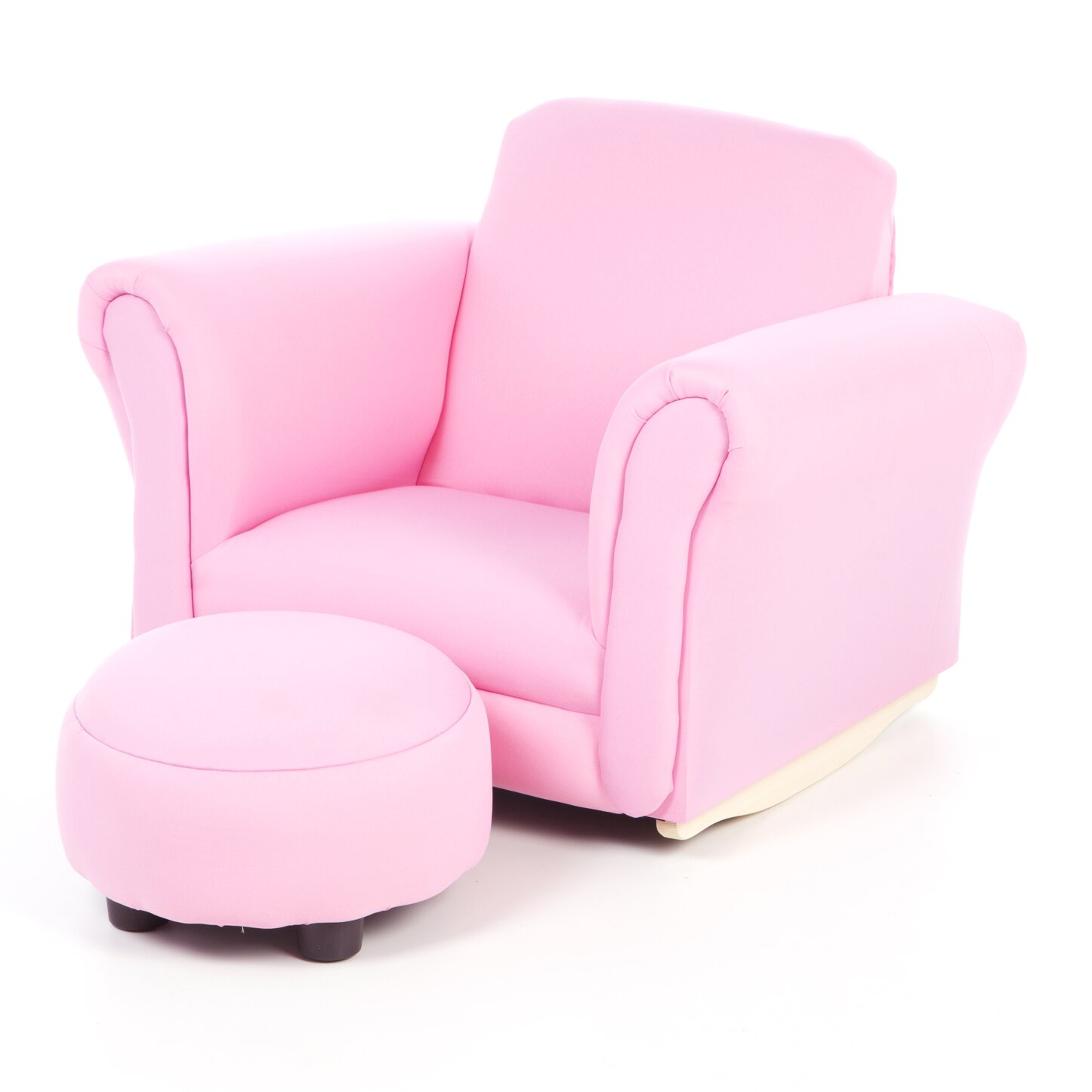 Gift mark upholstered kids club chair and ottoman for Kids upholstered chair