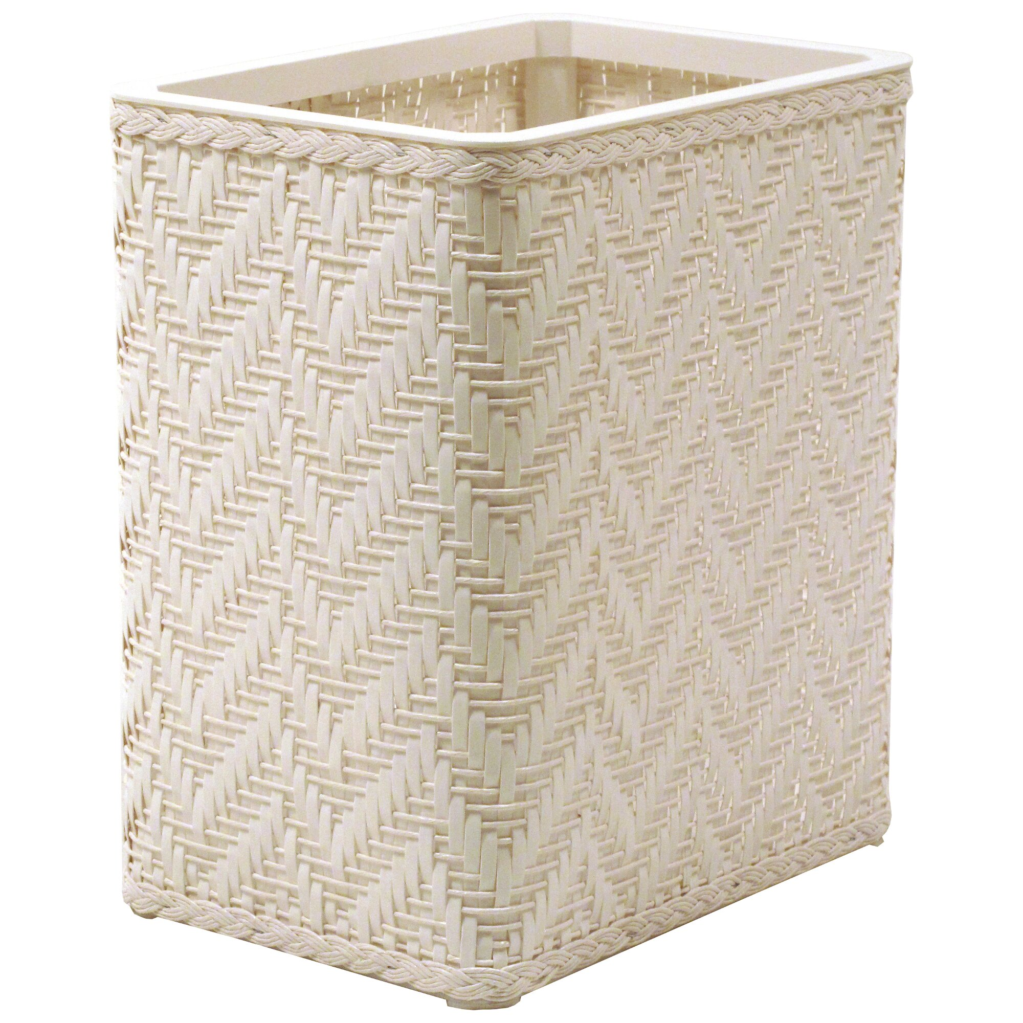 Redmon elegante decorator wicker wastebasket reviews wayfair - Elegant wastebasket ...
