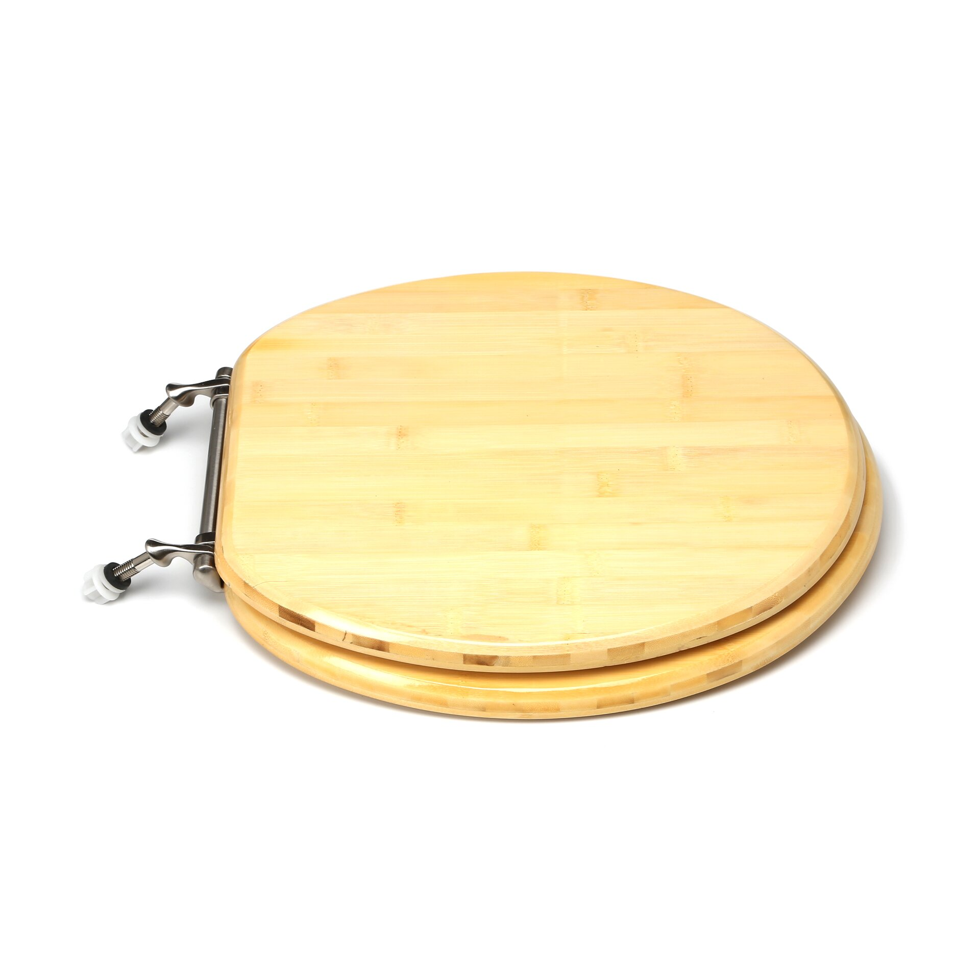 Comfort Seats Premium Piano Wood Round Toilet Seat Reviews Wayfair