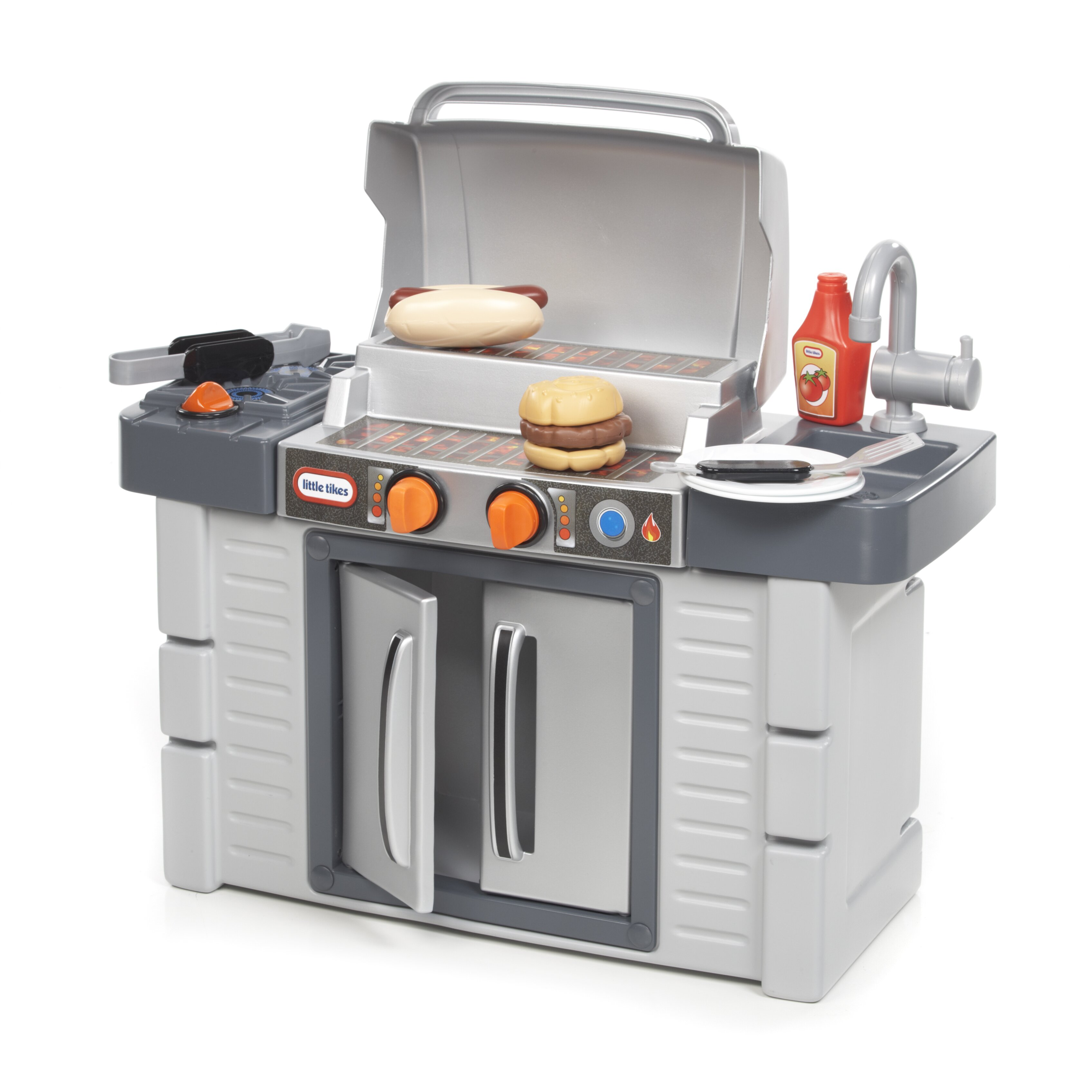 Little tikes cook 39 n grow bbq grill kitchen set reviews for Little boy kitchen set