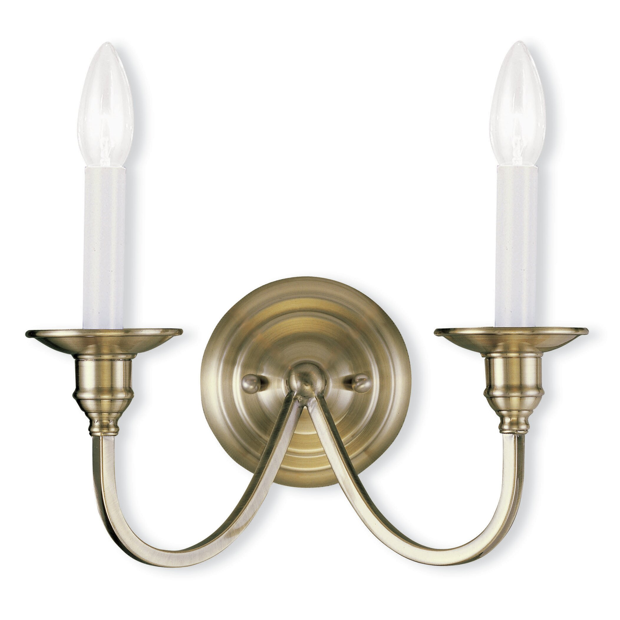 Wall Sconce With Magnifying Glass : Livex Lighting Cranford 2 Light Wall Sconce & Reviews Wayfair