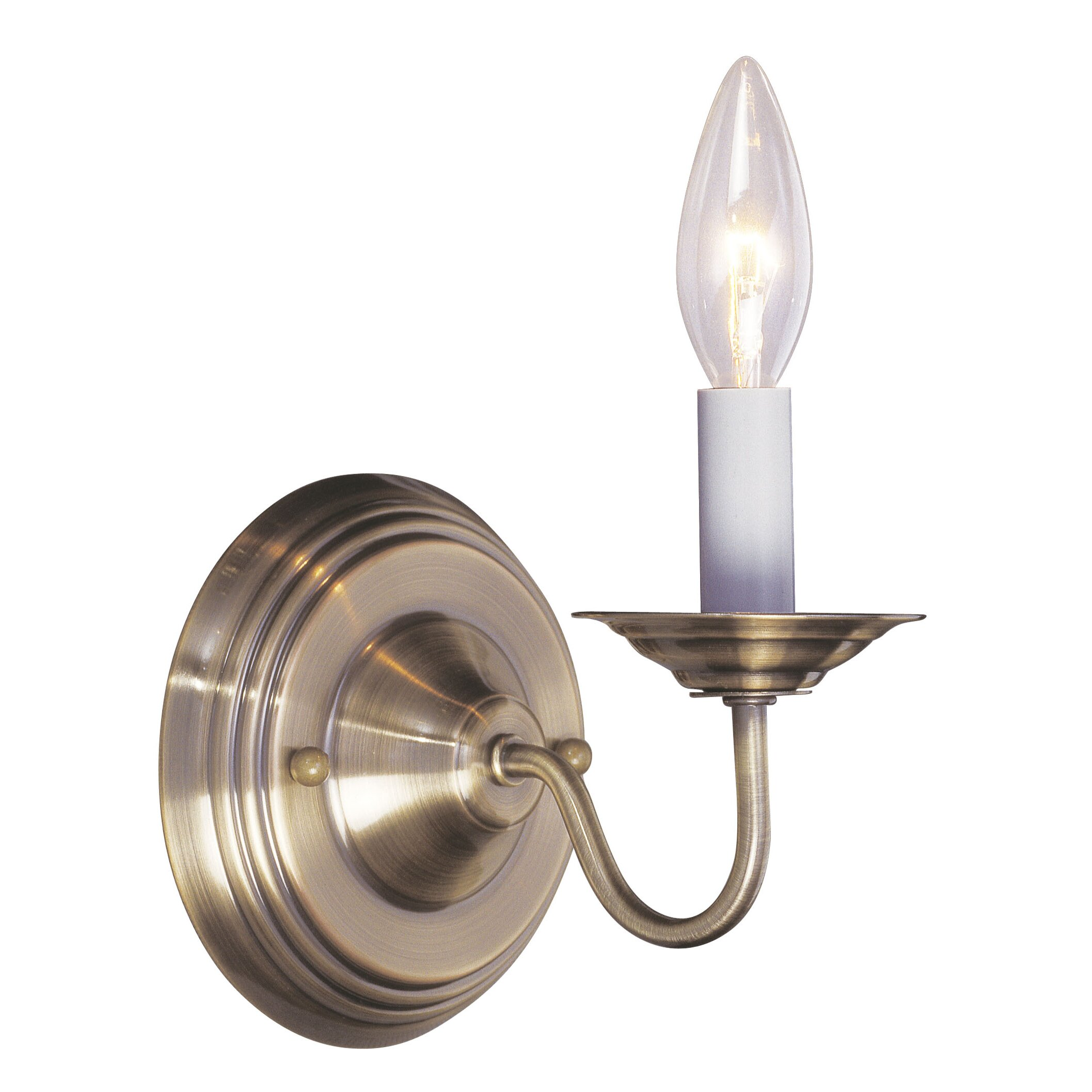 Wall Sconce With Magnifying Glass : Livex Lighting Williamsburgh 1 Light Wall Sconce & Reviews Wayfair