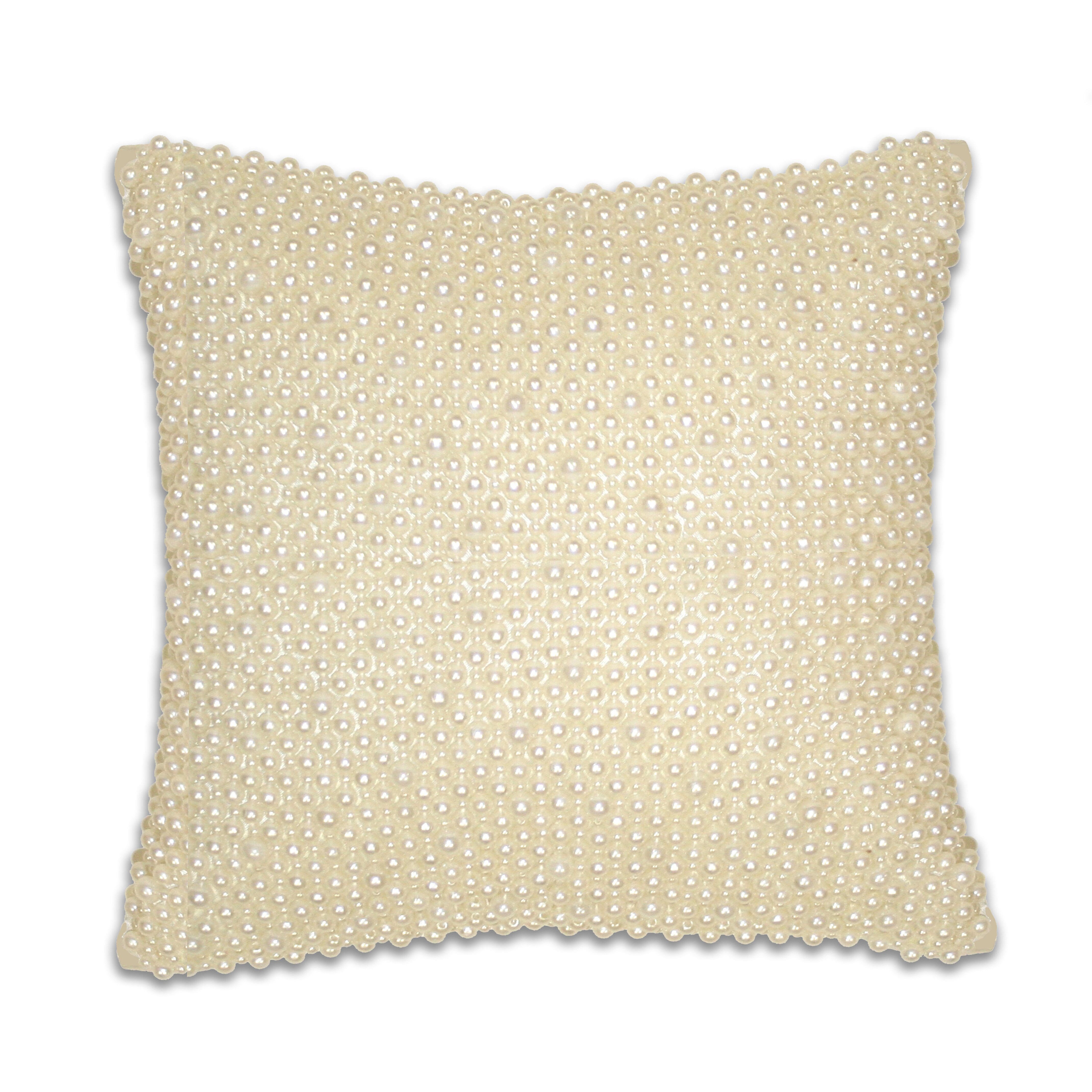 Decorative Pillow With Pearls : Thro by Marlo Lorenz Ivory Pearl Velvet Throw Pillow & Reviews Wayfair