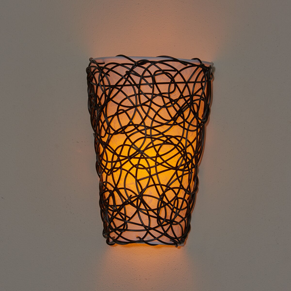 It S Exciting Lighting 6 Light Wicker Wall Sconce