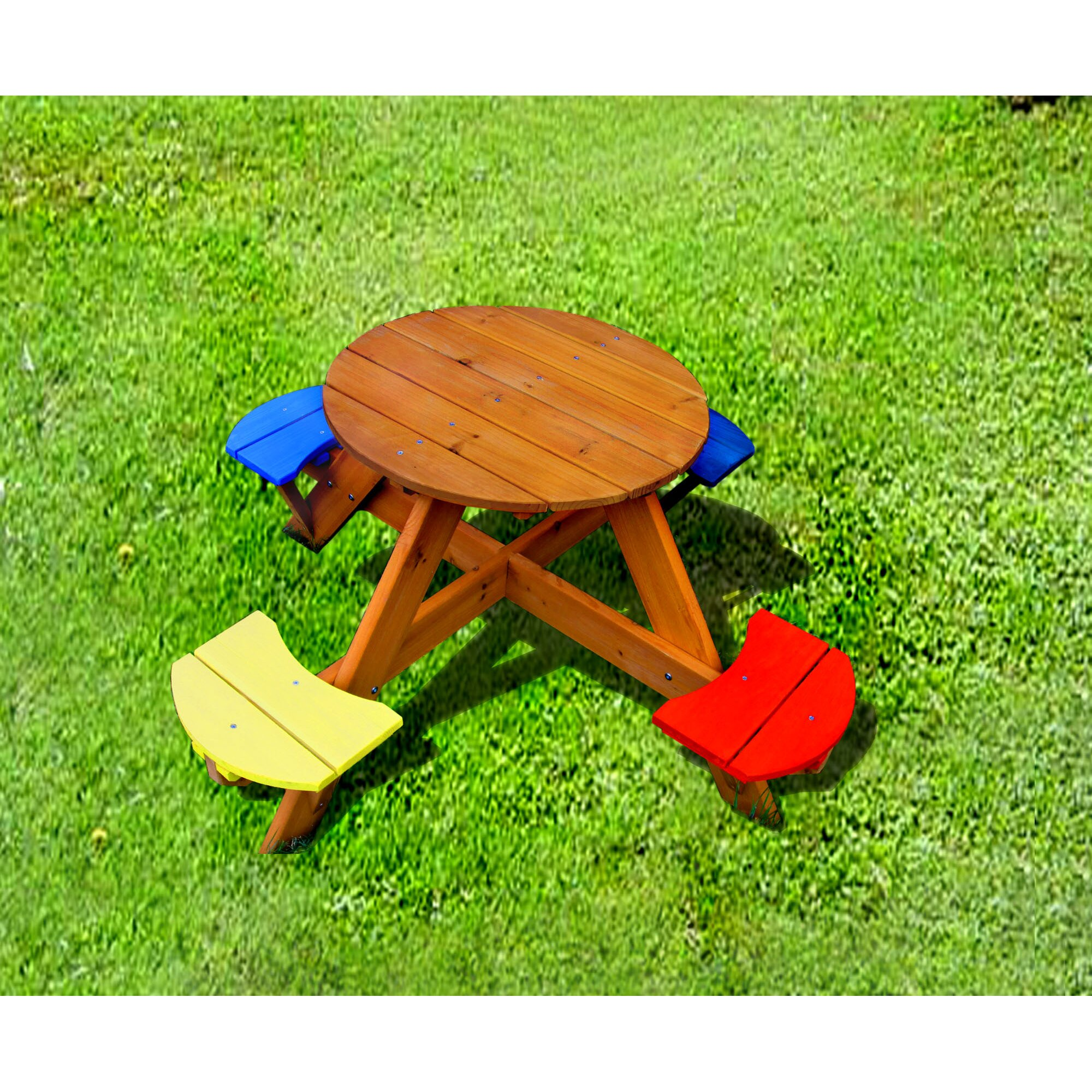 Swing Town Kids Picnic Table Amp Reviews Wayfair