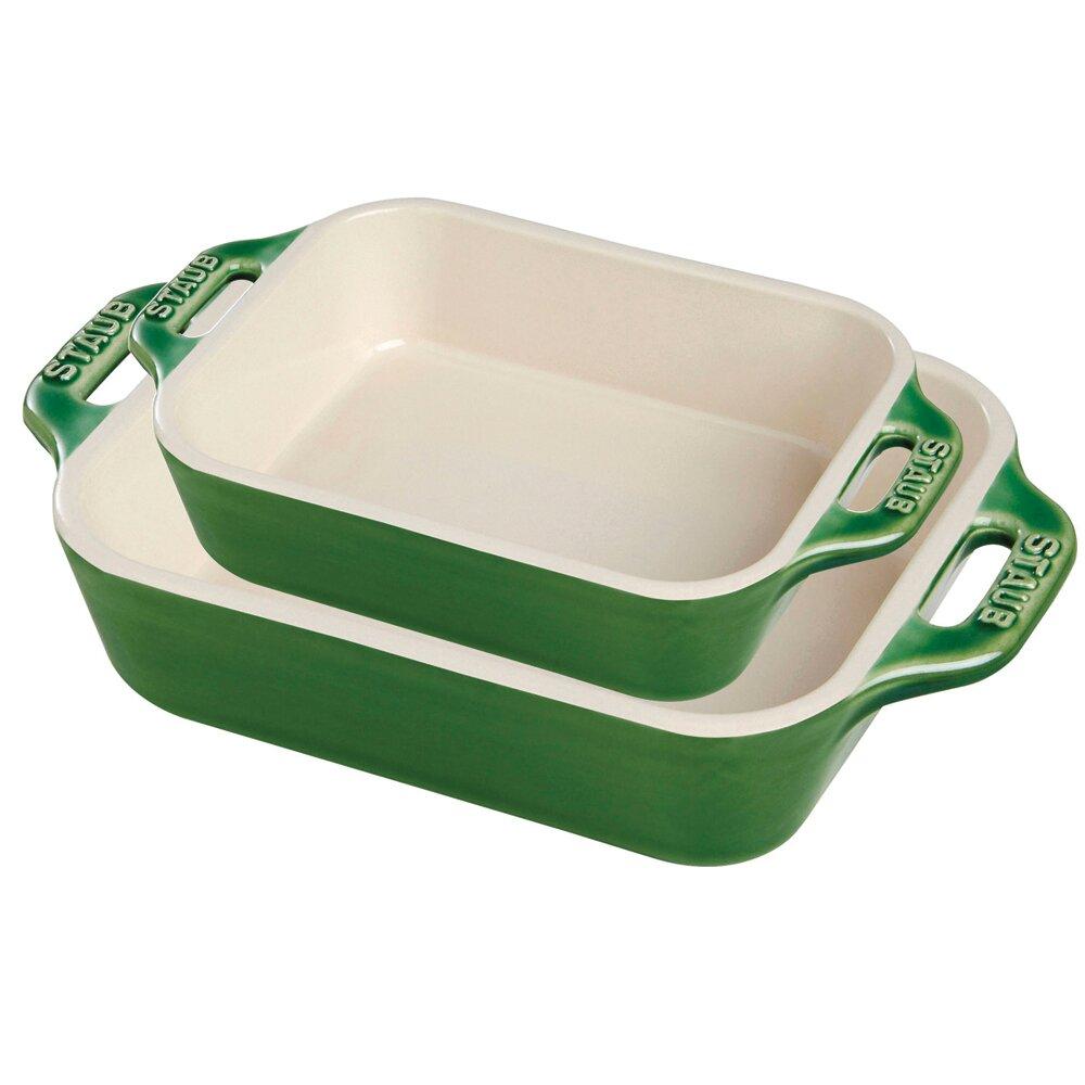 Staub Ceramic 2 Piece Rectangular Baking Dish Set