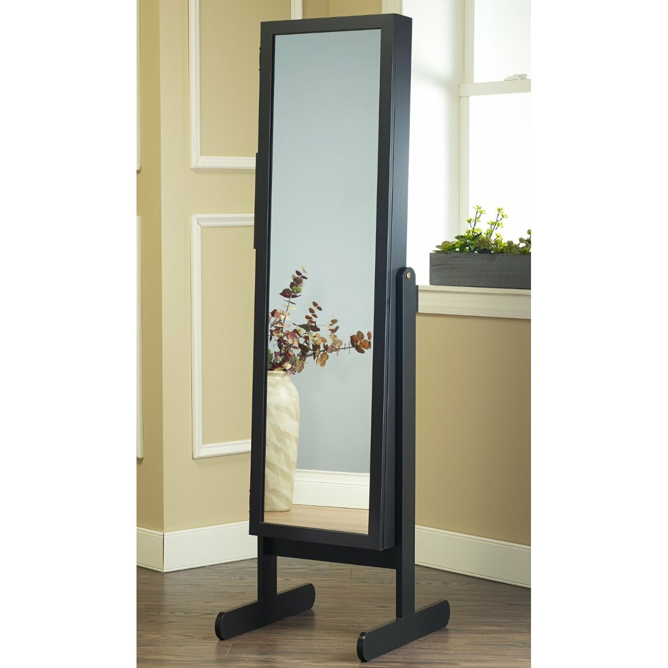 Mirrotek Free Standing Jewelry Armoire With Mirror
