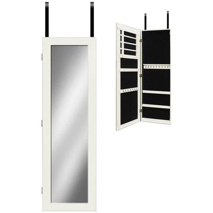 Mirrotek Wall Mounted Jewelry Armoire with Mirror ...