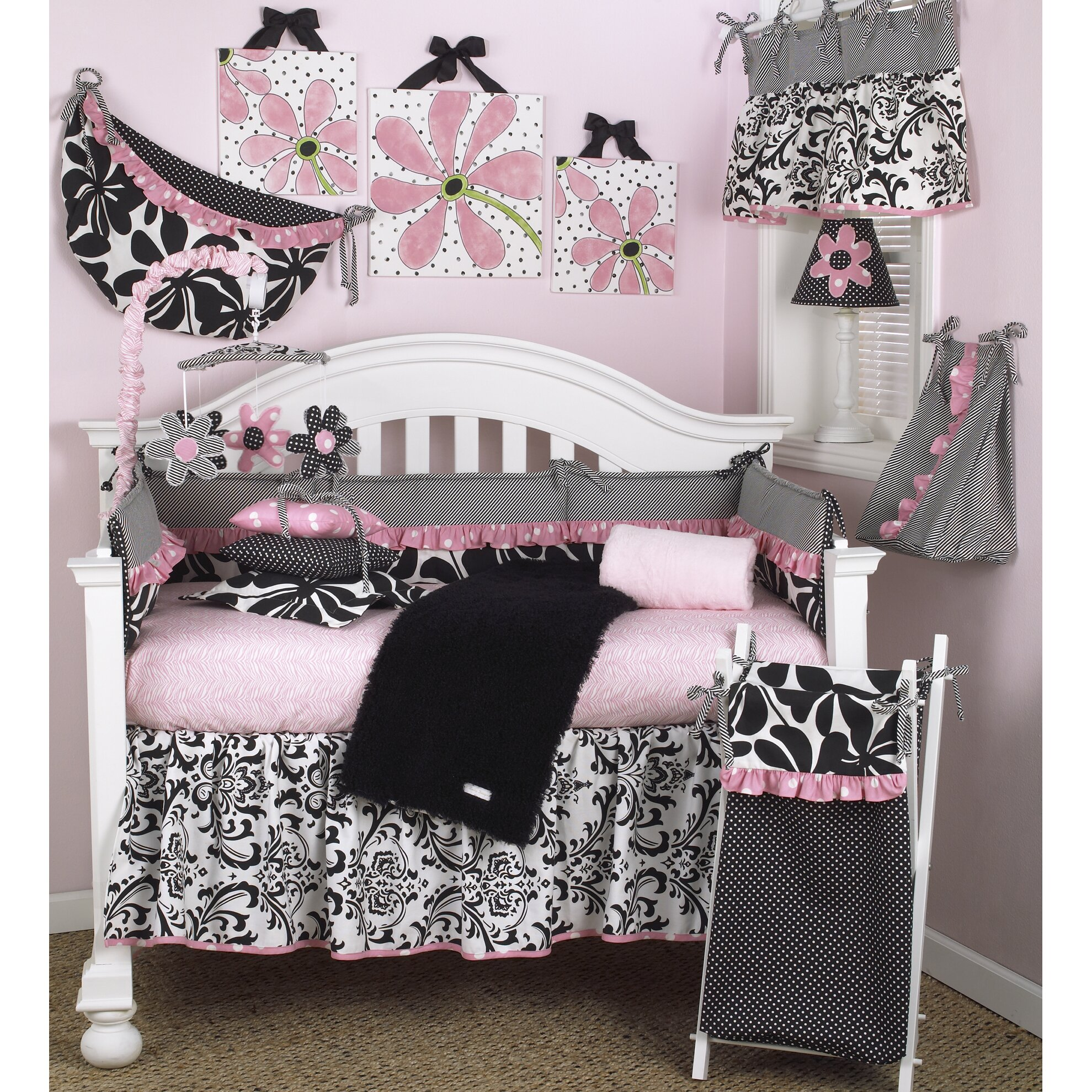 Cotton Tale Girly  Piece Crib Bedding Set