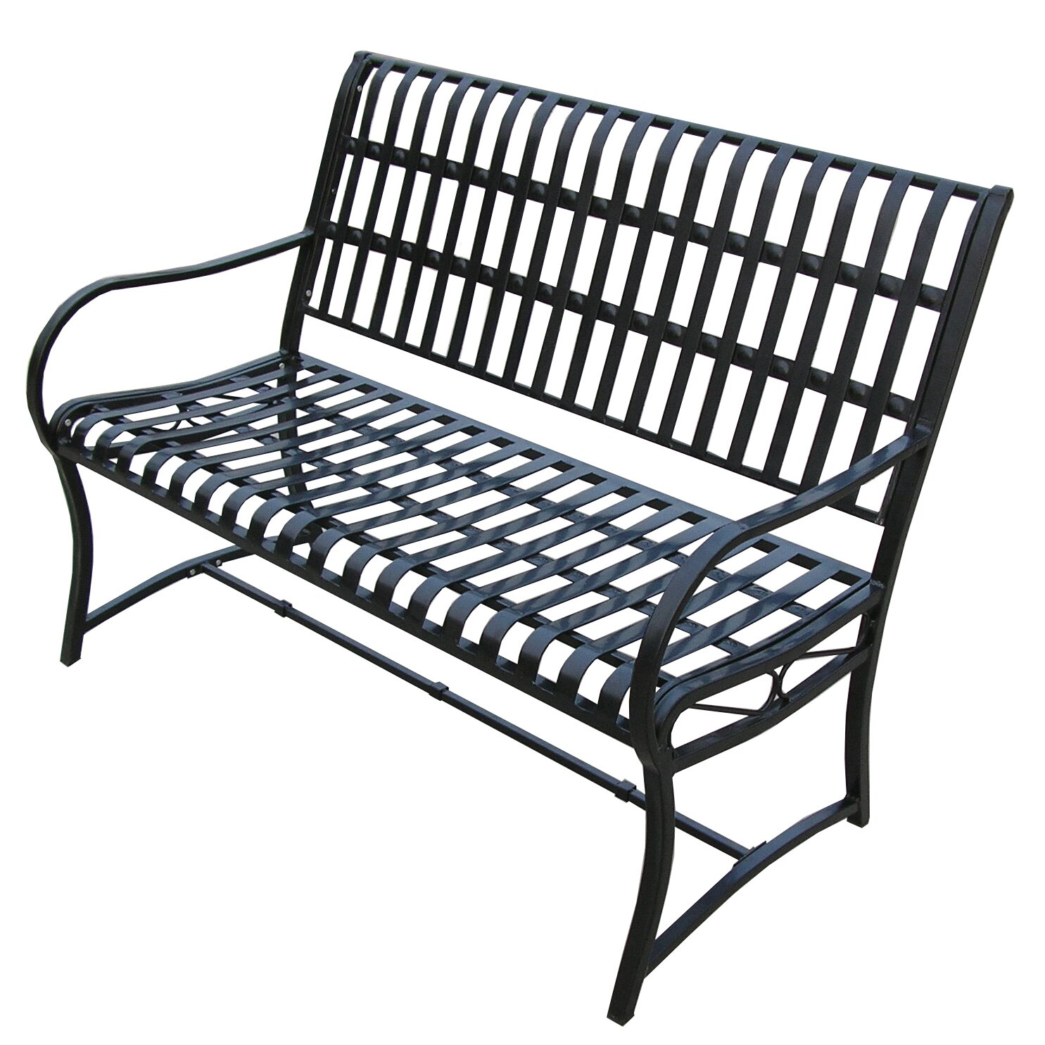 Oakland Living Noble Iron Garden Bench Reviews Wayfair