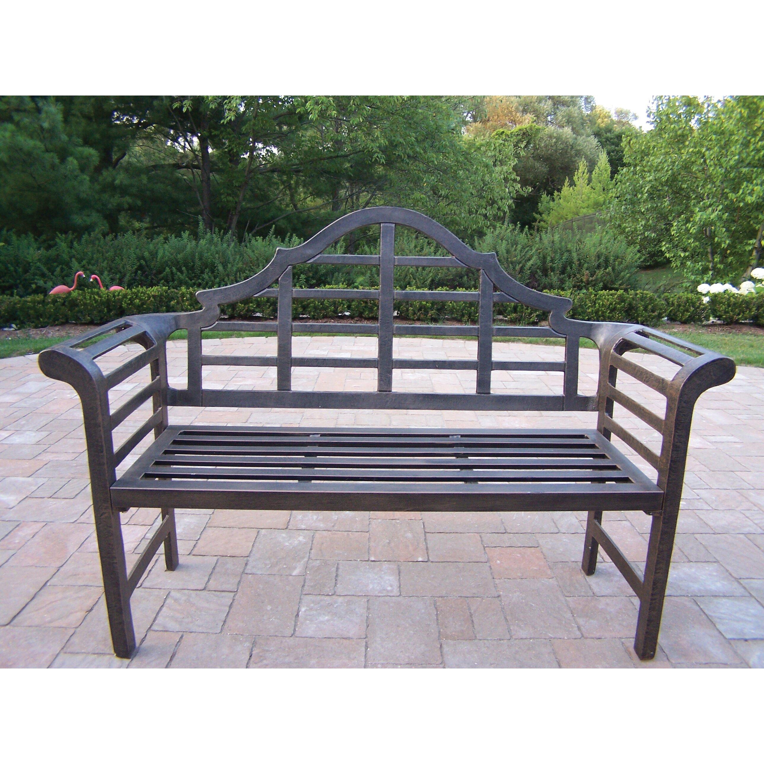 Oakland Living King Louis Aluminum Garden Bench & Reviews