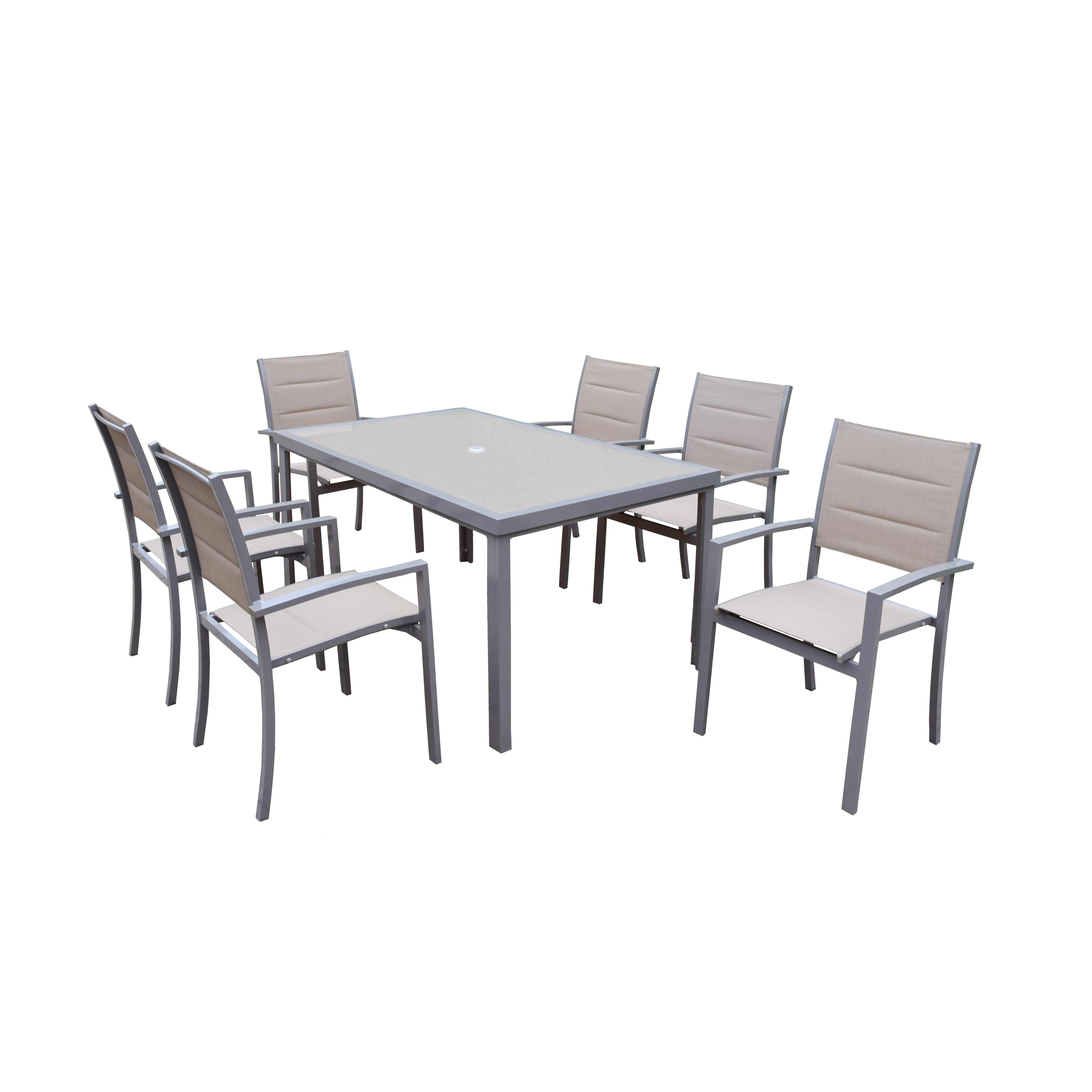 Oakland living padded sling 7 piece dining set reviews for 7 piece dining set