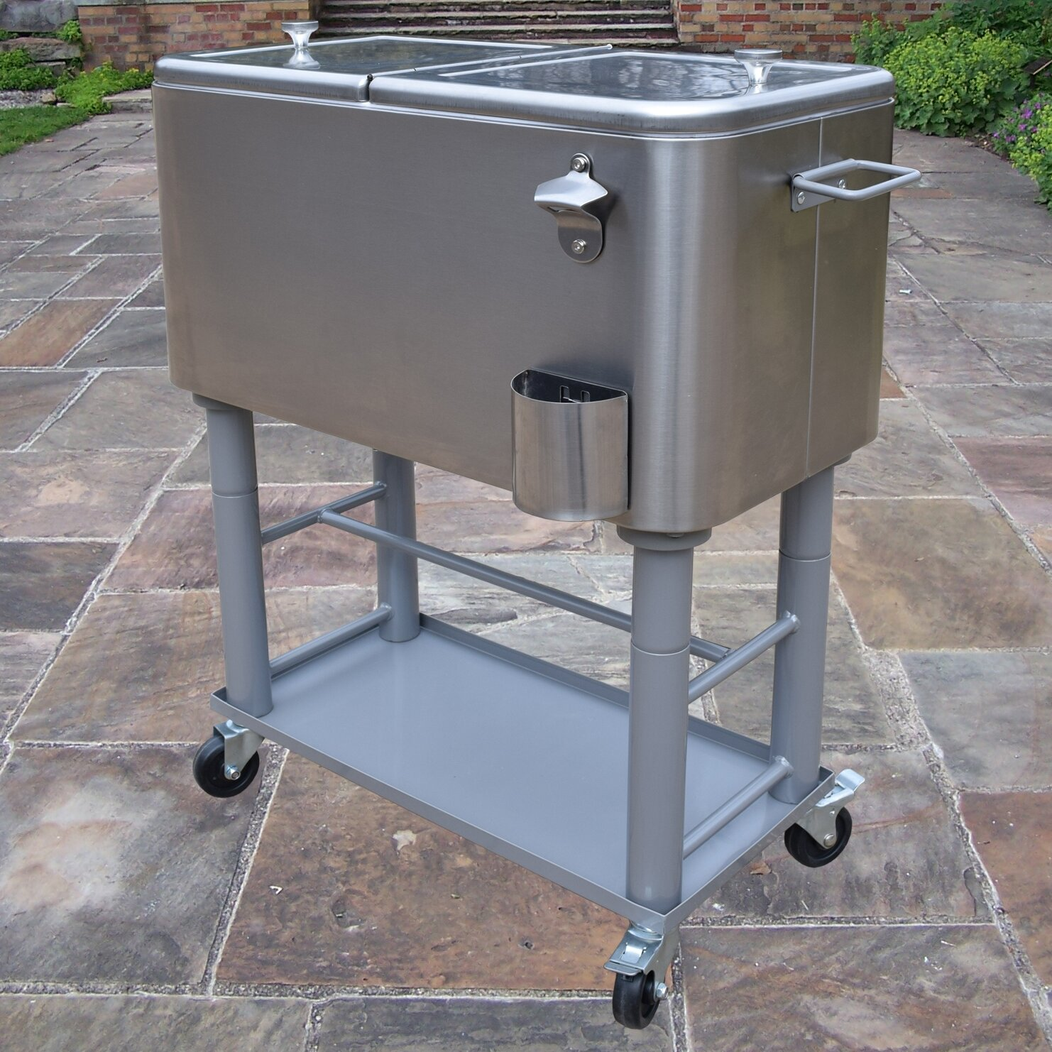 Oakland Living 60 Qt Stainless Steel Party Cooler