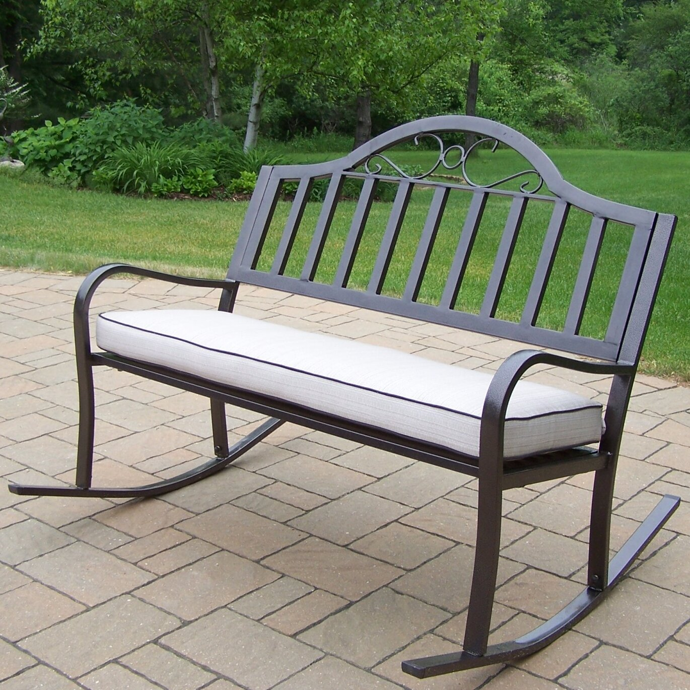 Rocking Garden Bench Customer Reviews For Tom Chambers Fsc Wooden Rocking Garden Bench